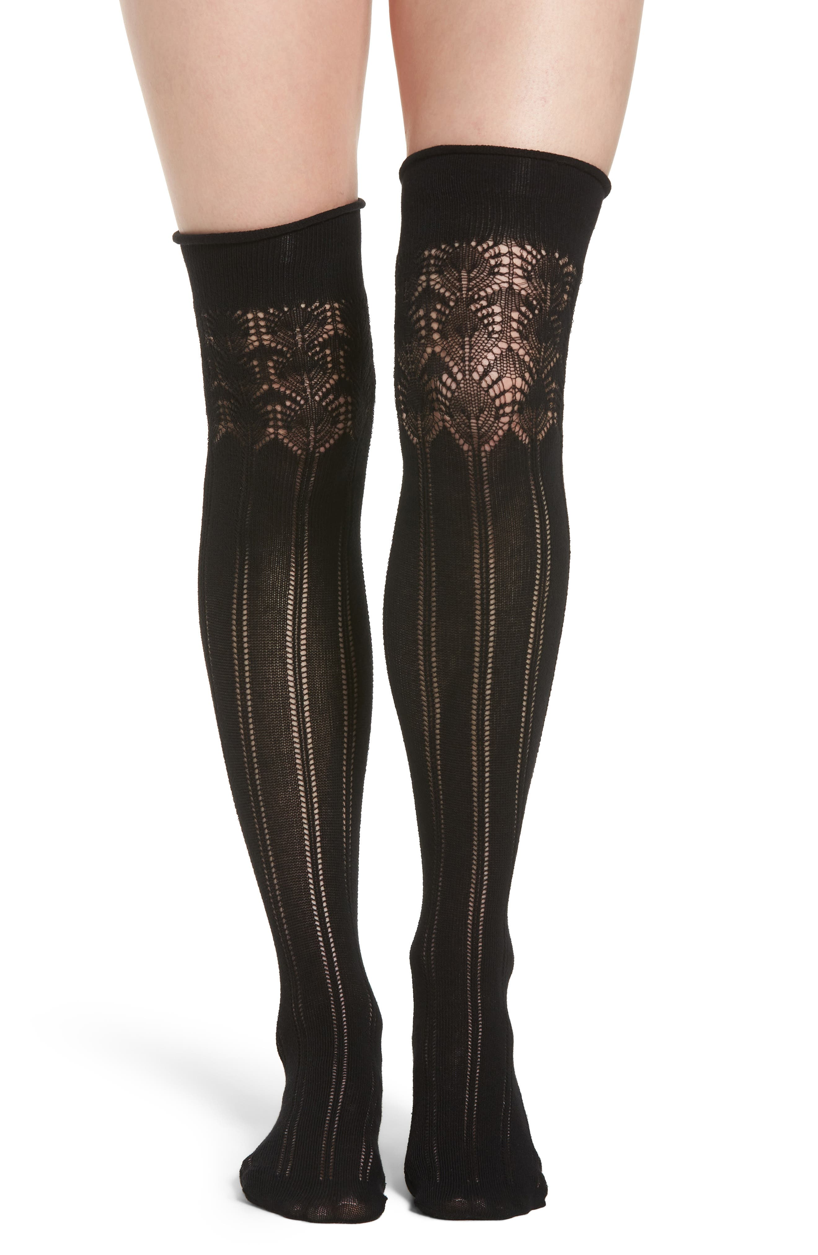 Miriam Over the Knee Socks,                         Main,                         color, 001