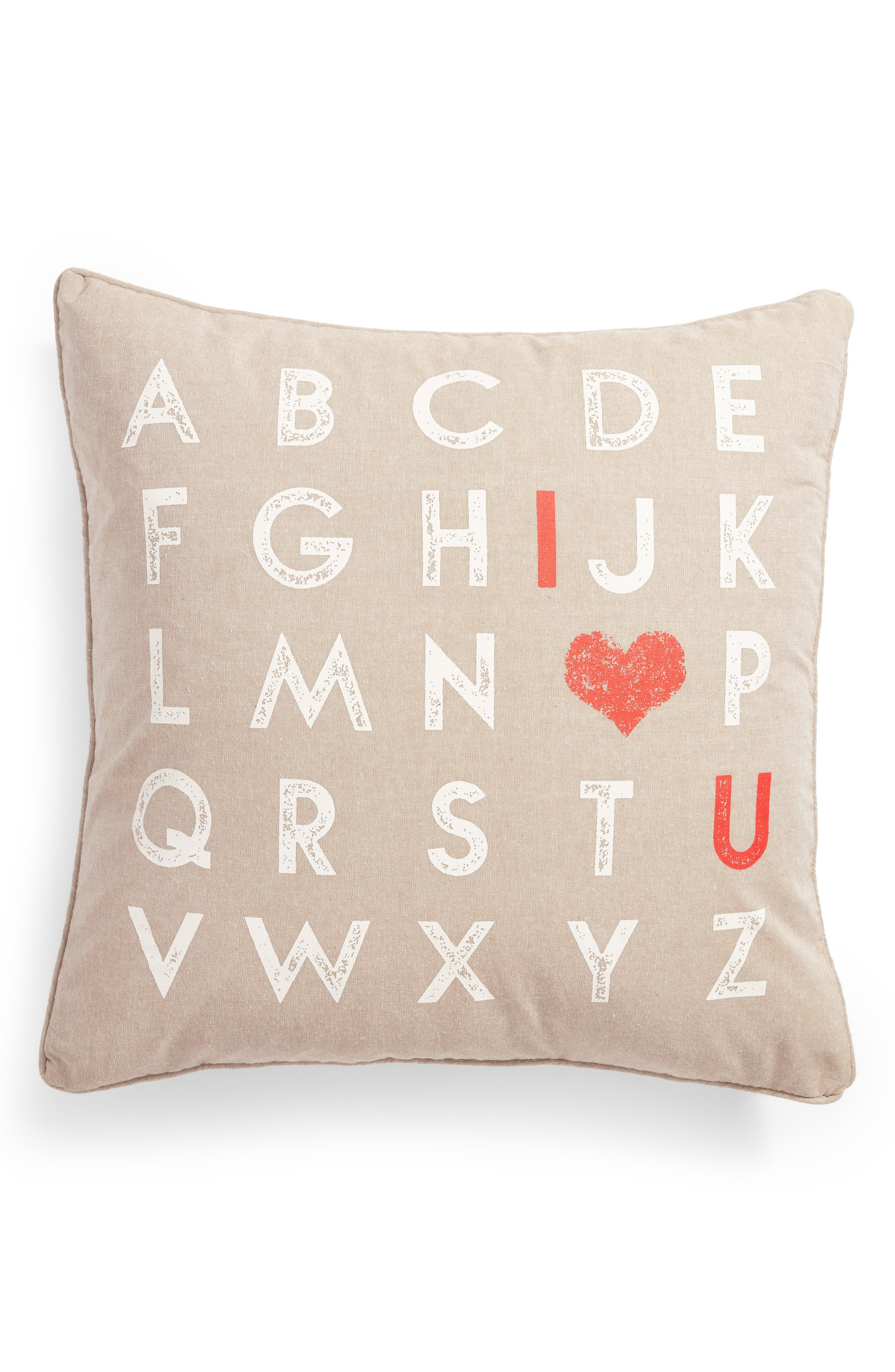 I Heart You Accent Pillow,                         Main,                         color, 250