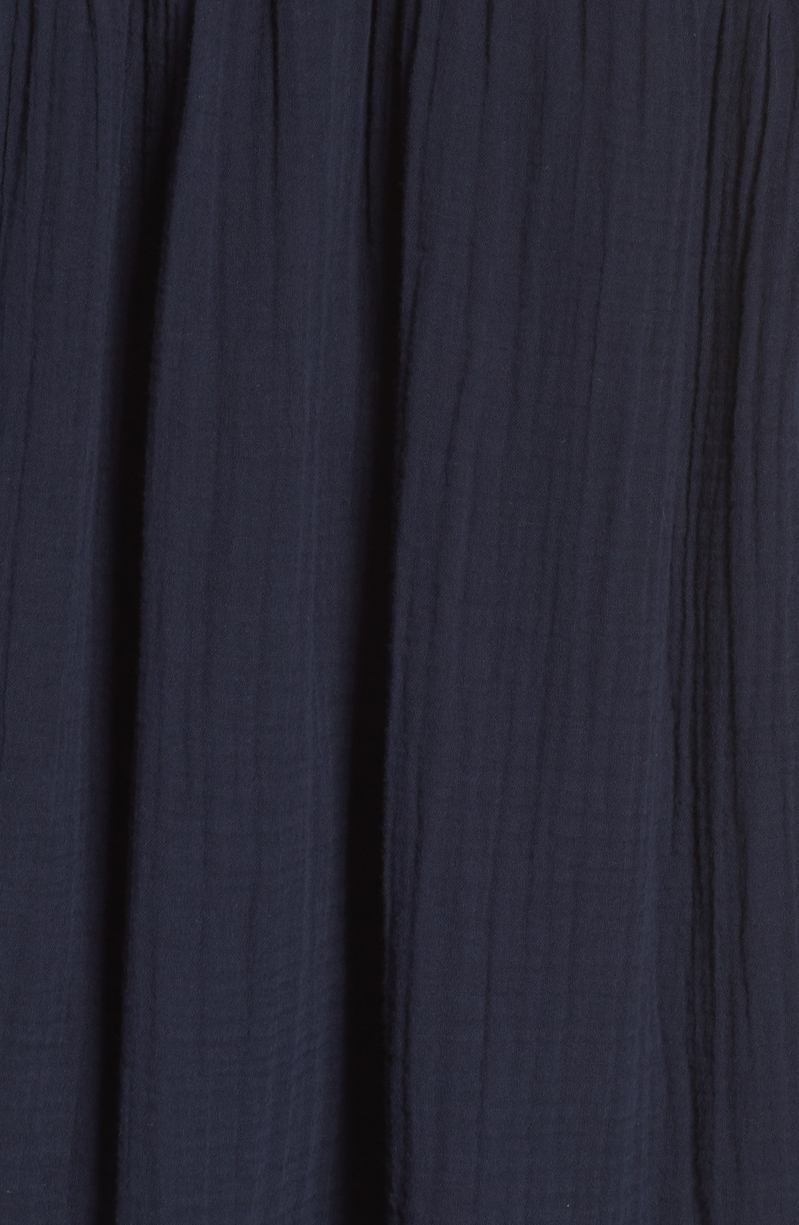 Embroidered Puff Sleeve Dress,                             Alternate thumbnail 6, color,                             NAVY ELLERY EMB