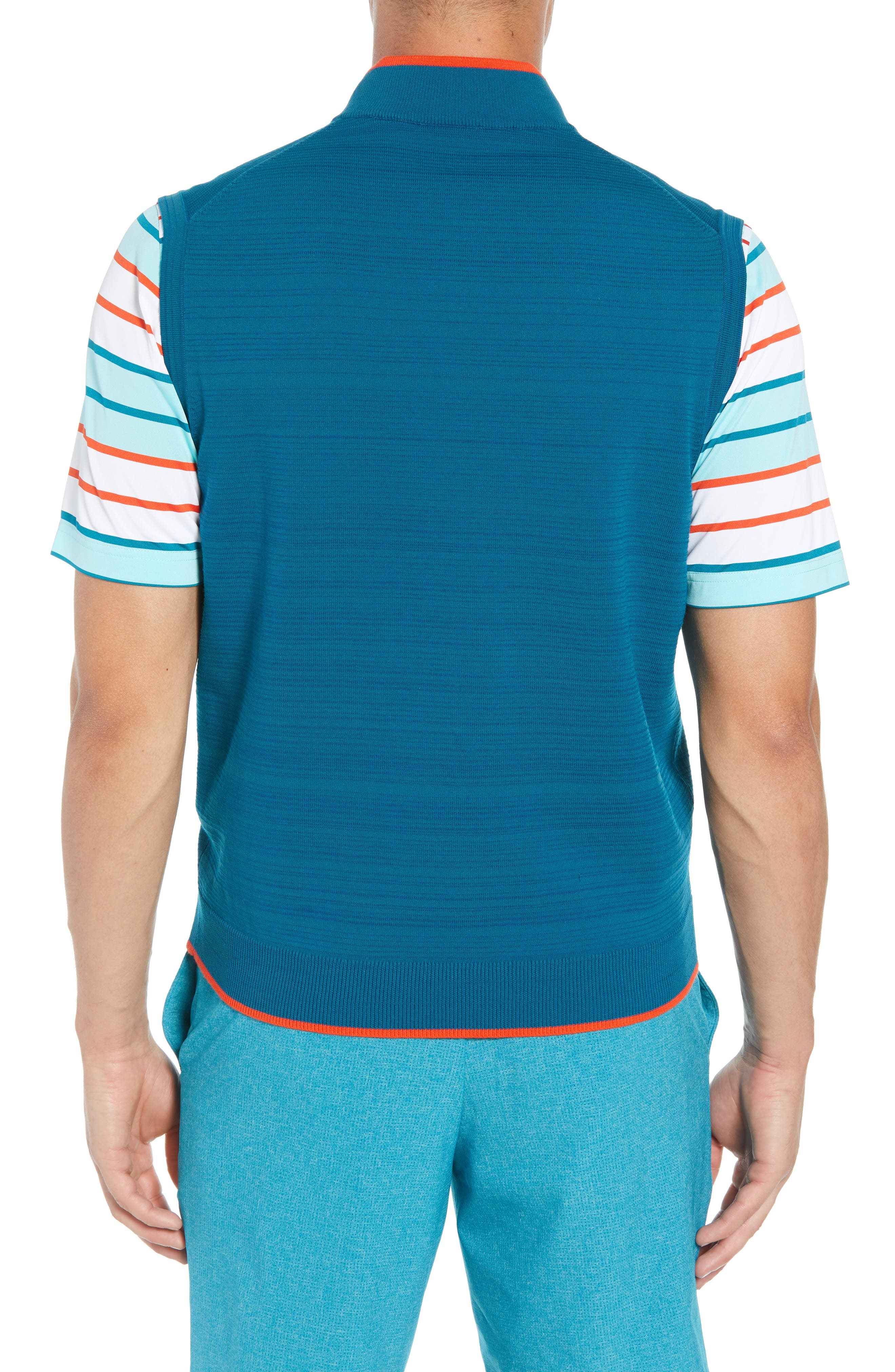 Impact Half Zip Sweater Vest,                             Alternate thumbnail 2, color,                             AQUATIC
