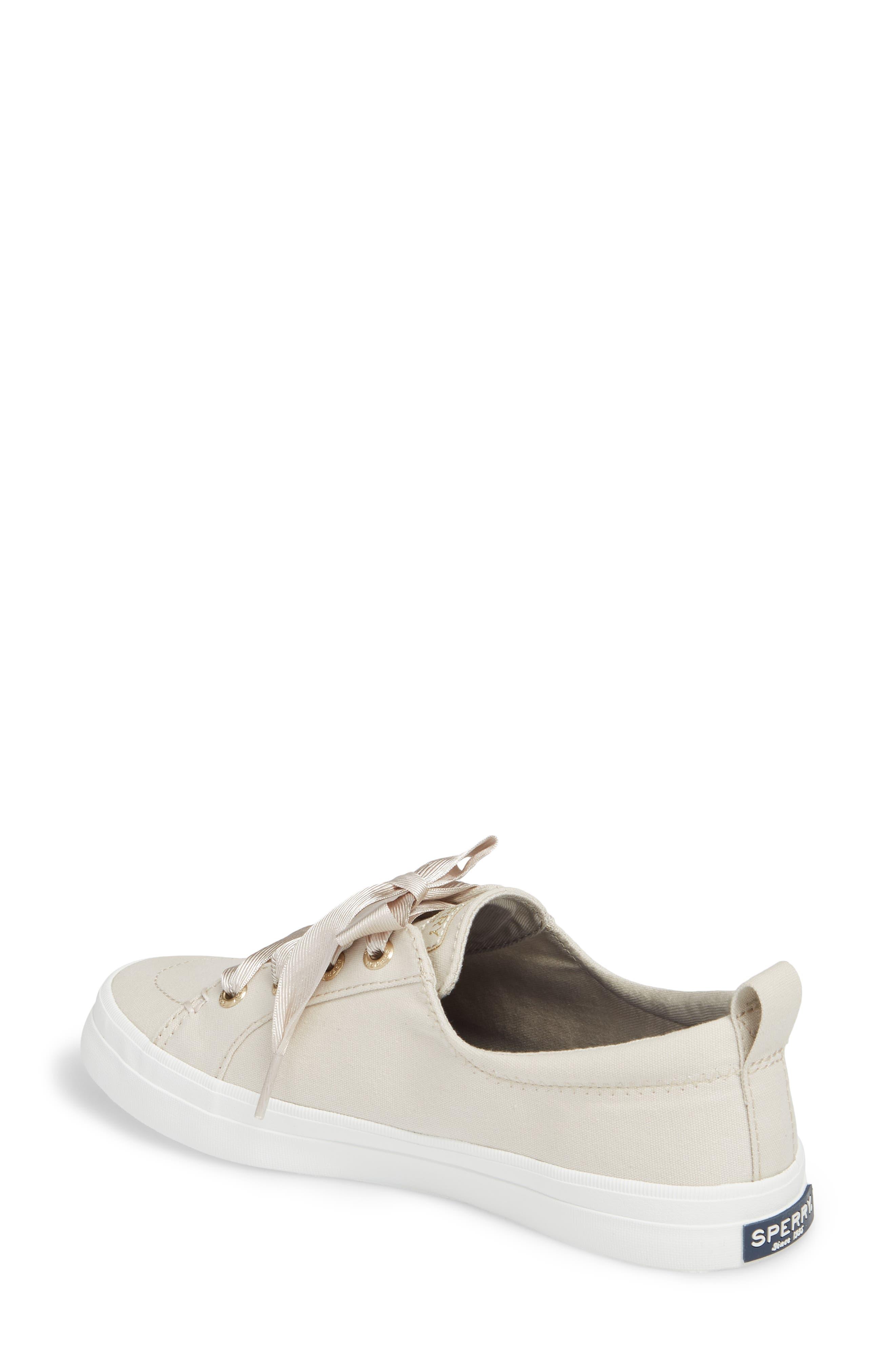Crest Vibe Satin Lace Sneaker,                             Alternate thumbnail 5, color,