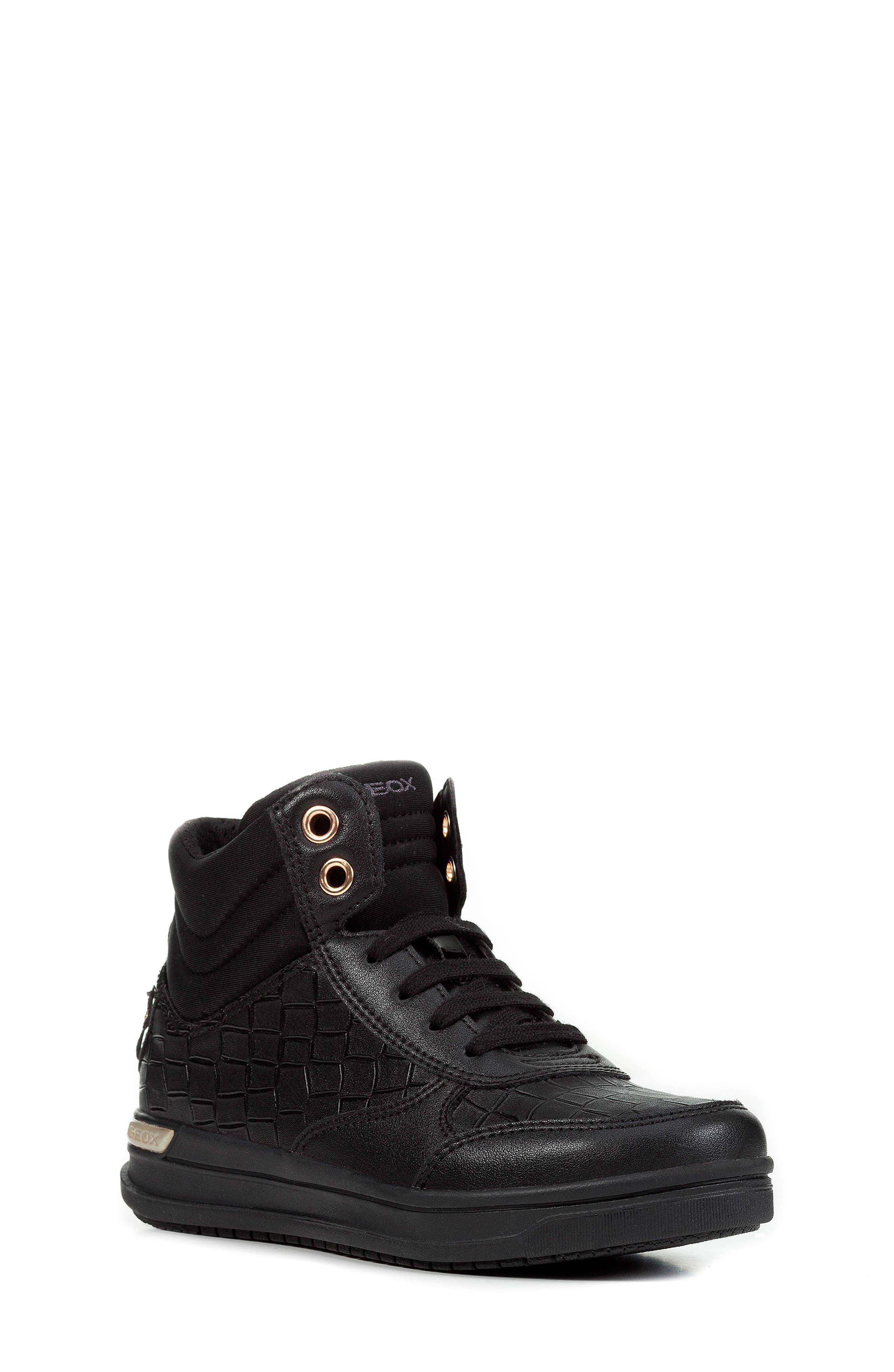 Aveup High Top Sneaker,                         Main,                         color, BLACK