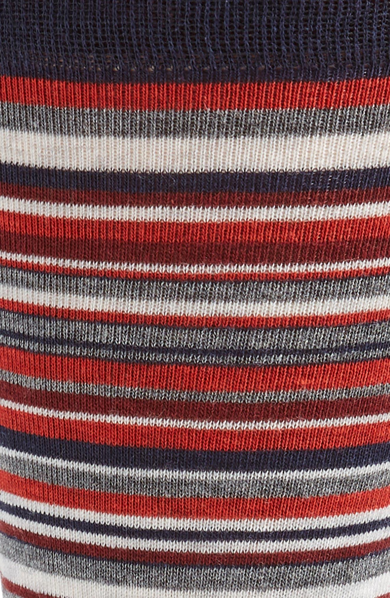 Town Stripe Crew Socks,                             Alternate thumbnail 2, color,                             RED