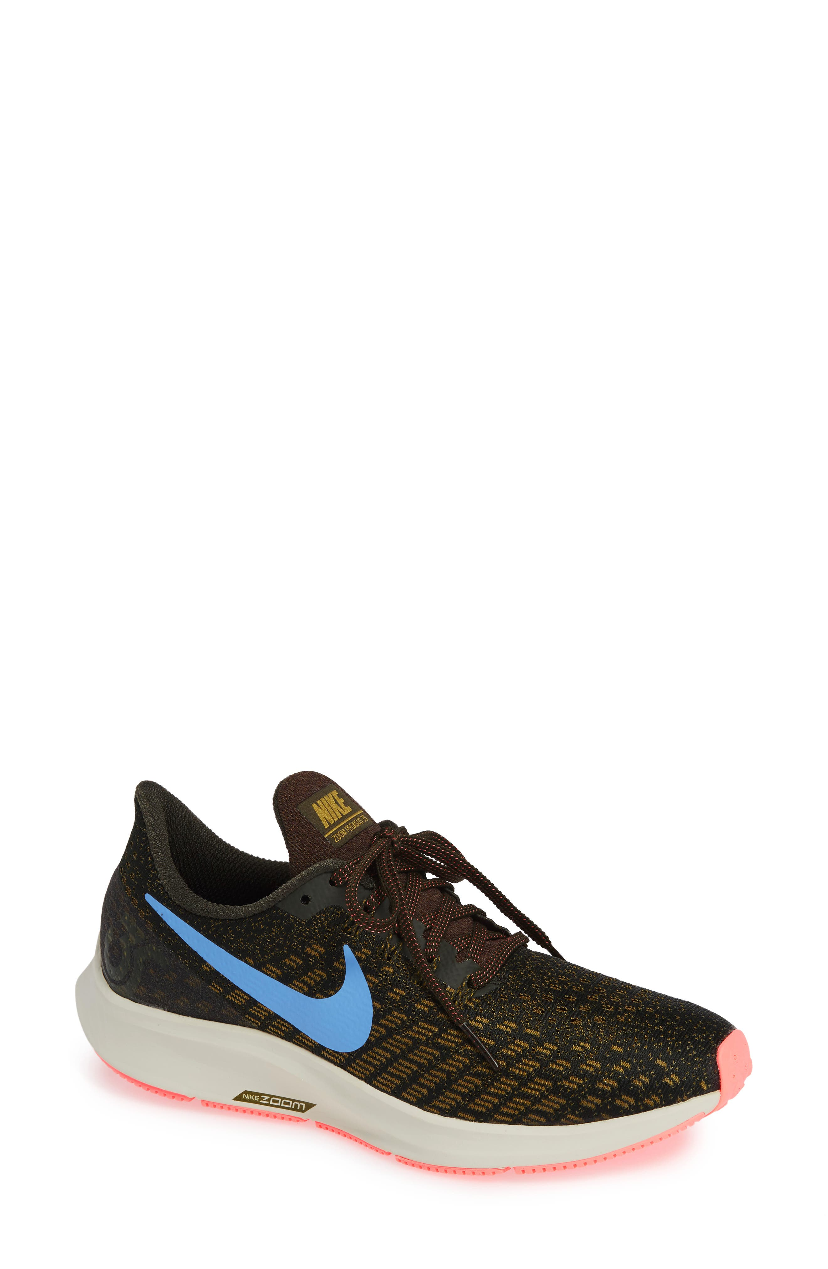 Air Zoom Pegasus 35 Running Shoe,                         Main,                         color, SEQUOIA/ ROYAL PULSE-OLIVE