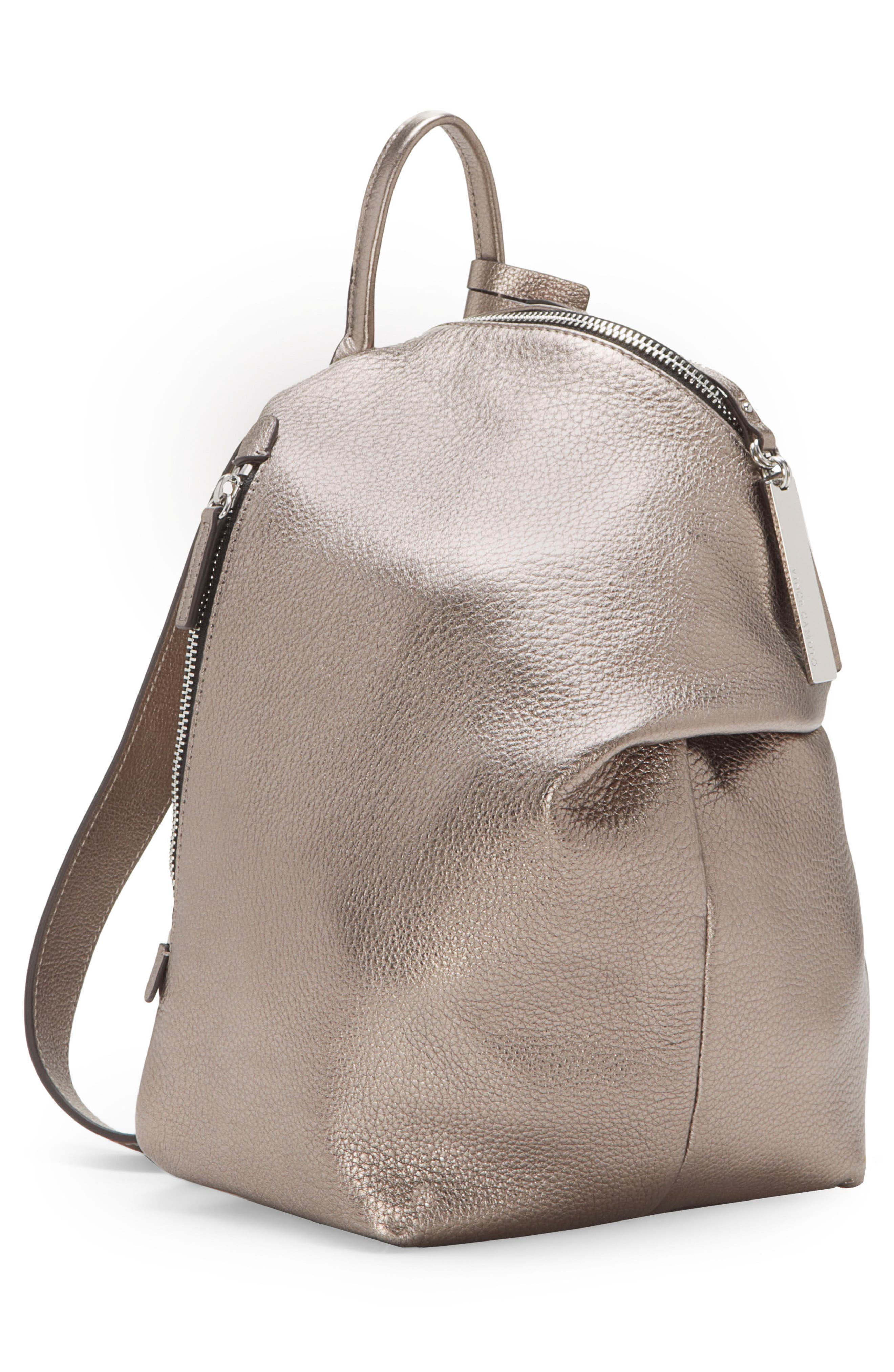 Small Giani Leather Backpack,                             Alternate thumbnail 4, color,                             020
