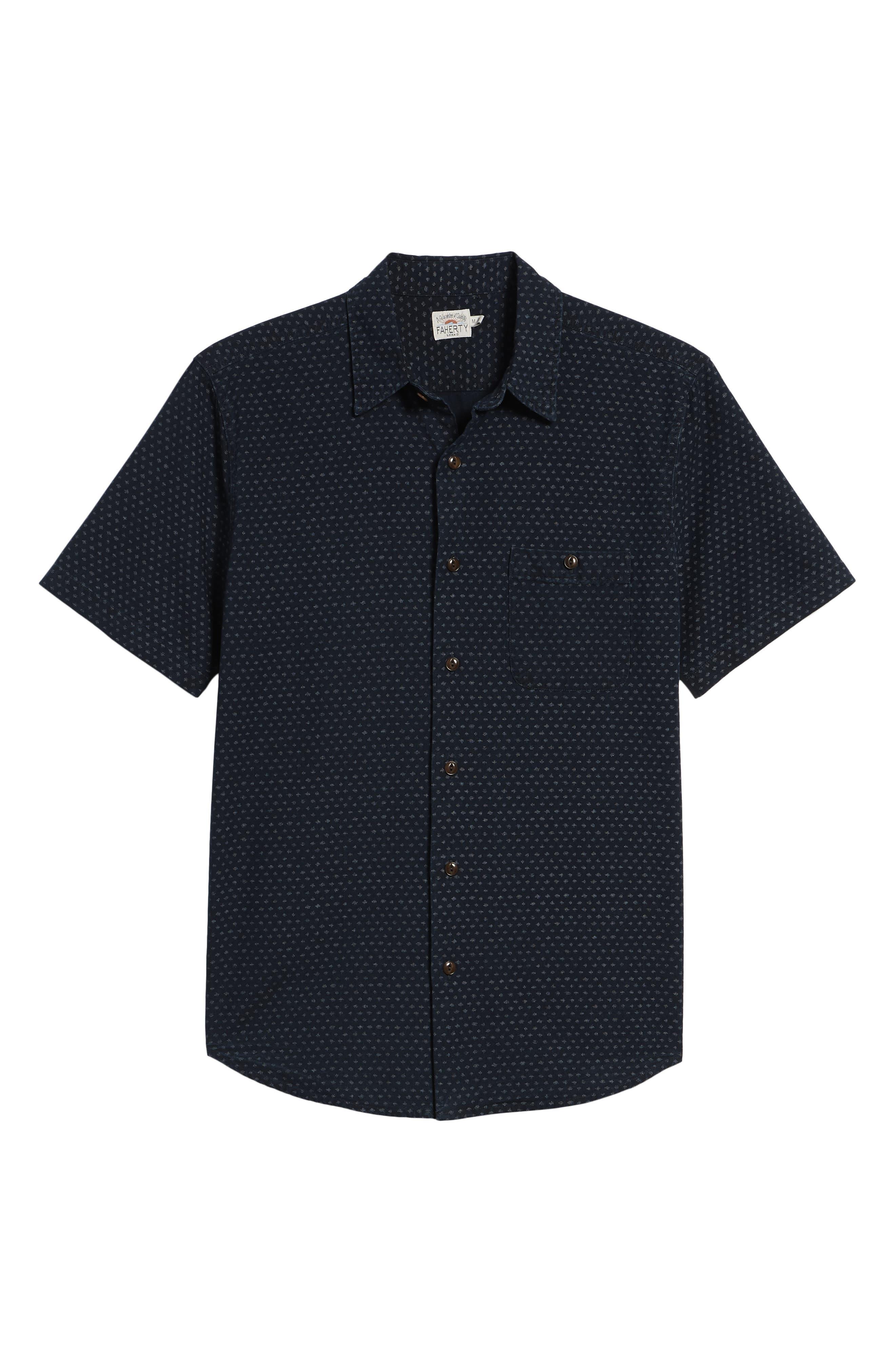 Coast Sport Shirt,                             Alternate thumbnail 6, color,                             INDIGO FLECK