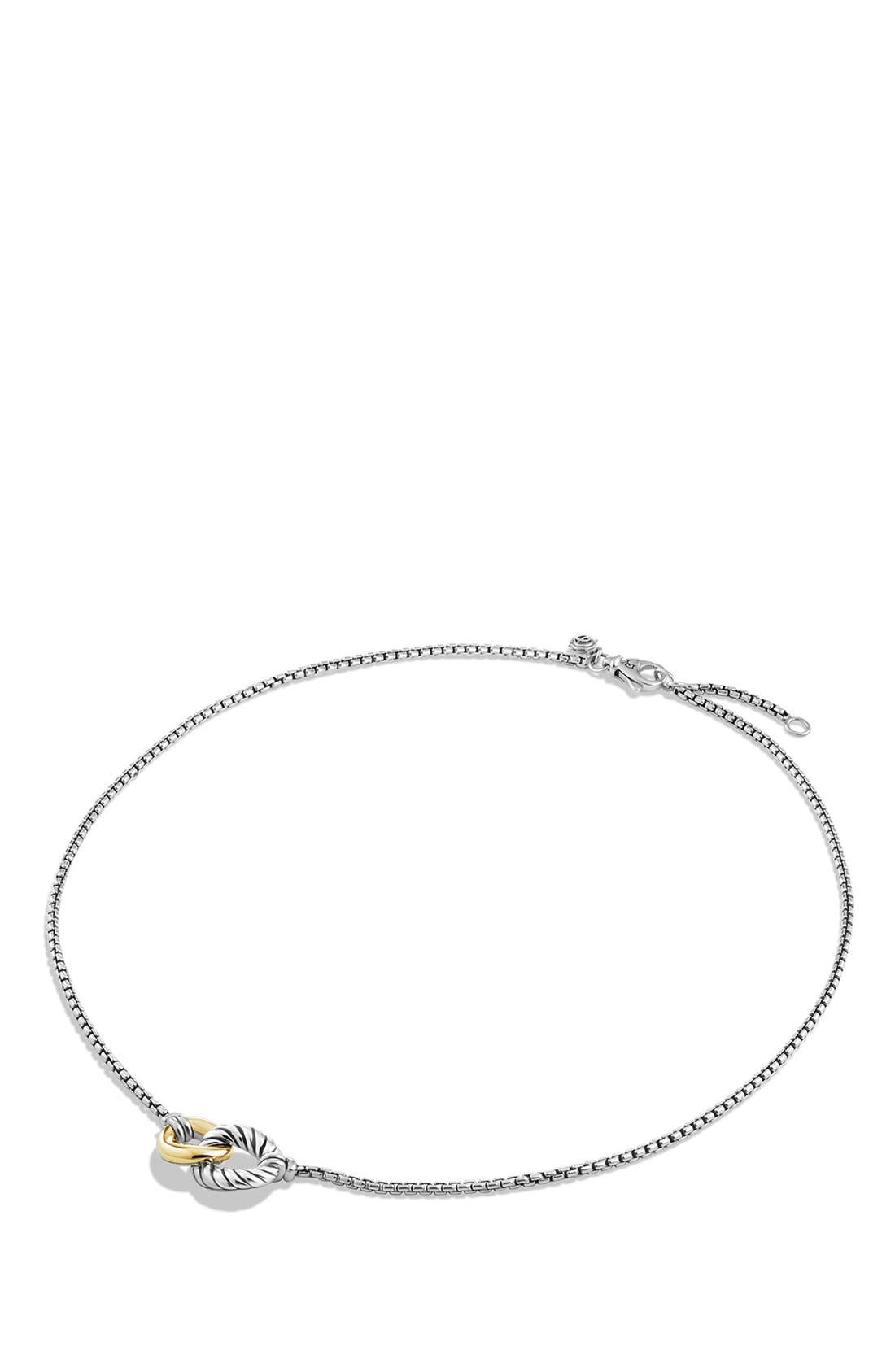'Belmont' Curb Link Necklace with 18K Gold,                             Alternate thumbnail 2, color,                             TWO TONE