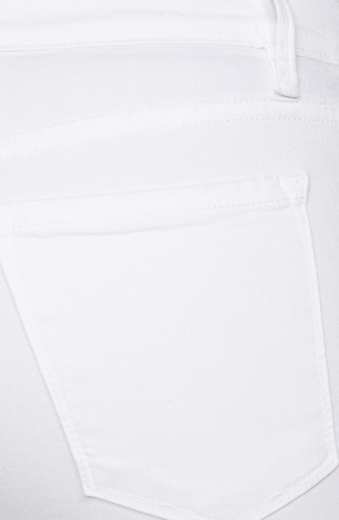 Le Color Rip Skinny Jeans,                             Alternate thumbnail 5, color,                             BLANC