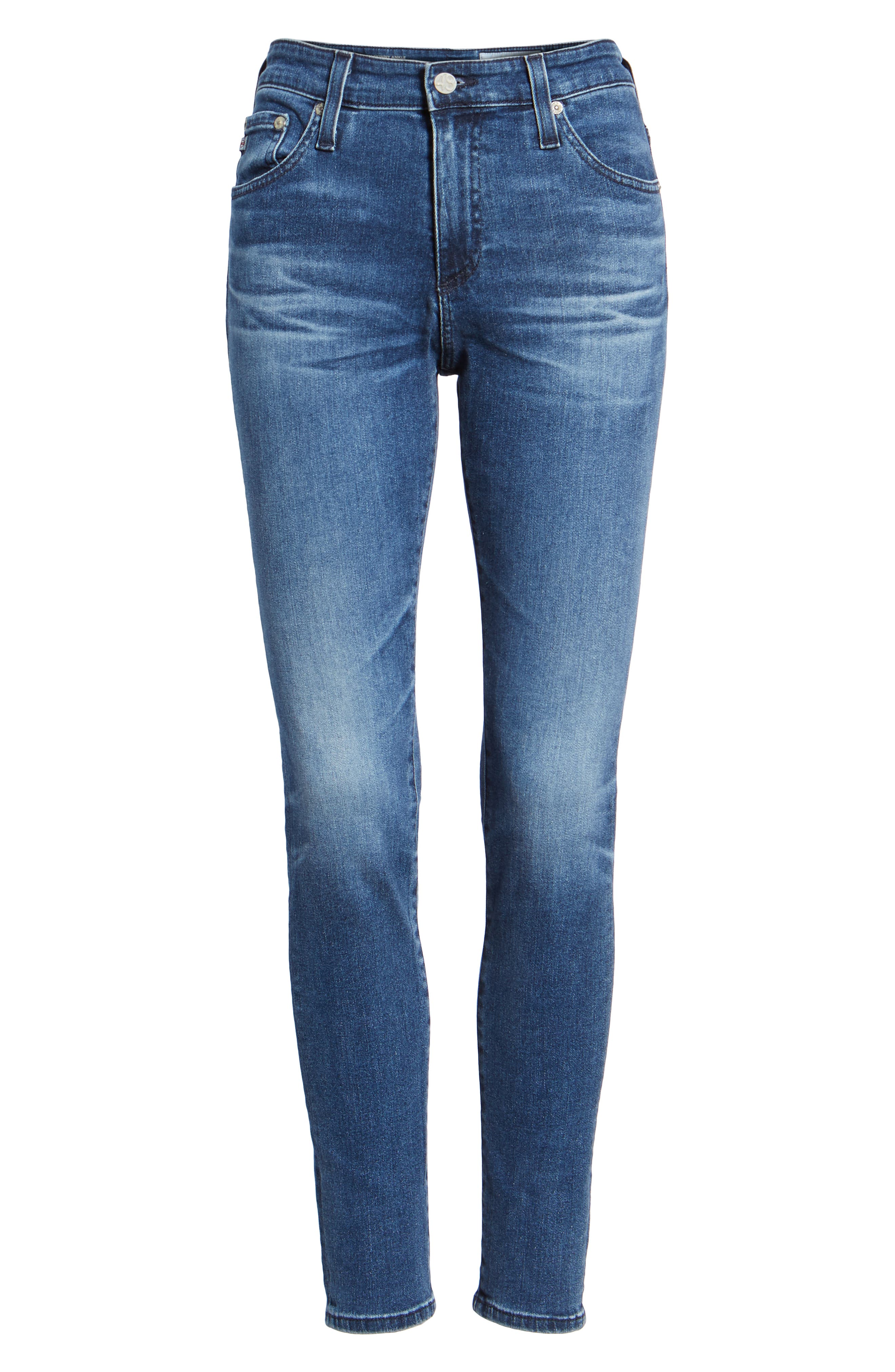 The Farrah Ankle Skinny Jeans,                             Alternate thumbnail 7, color,                             11 YEARS CONTEMPLATE