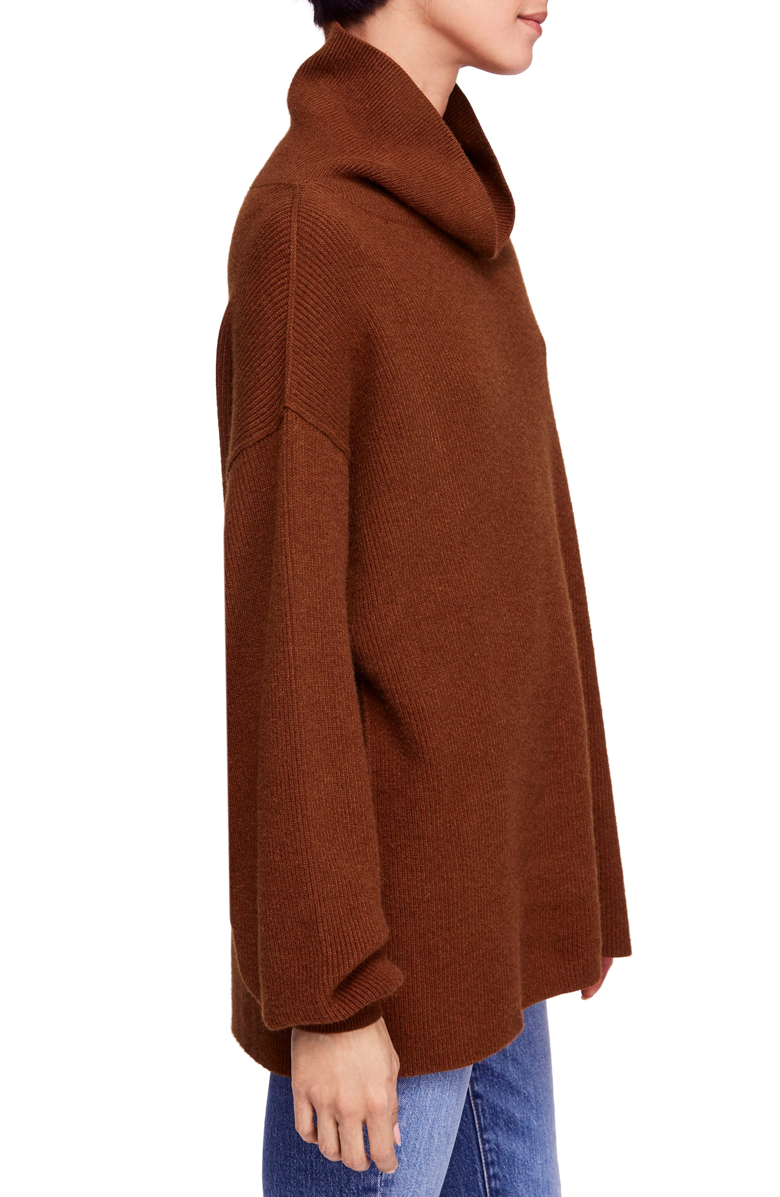 Softly Structured Knit Tunic,                             Alternate thumbnail 3, color,                             TERRACOTTA