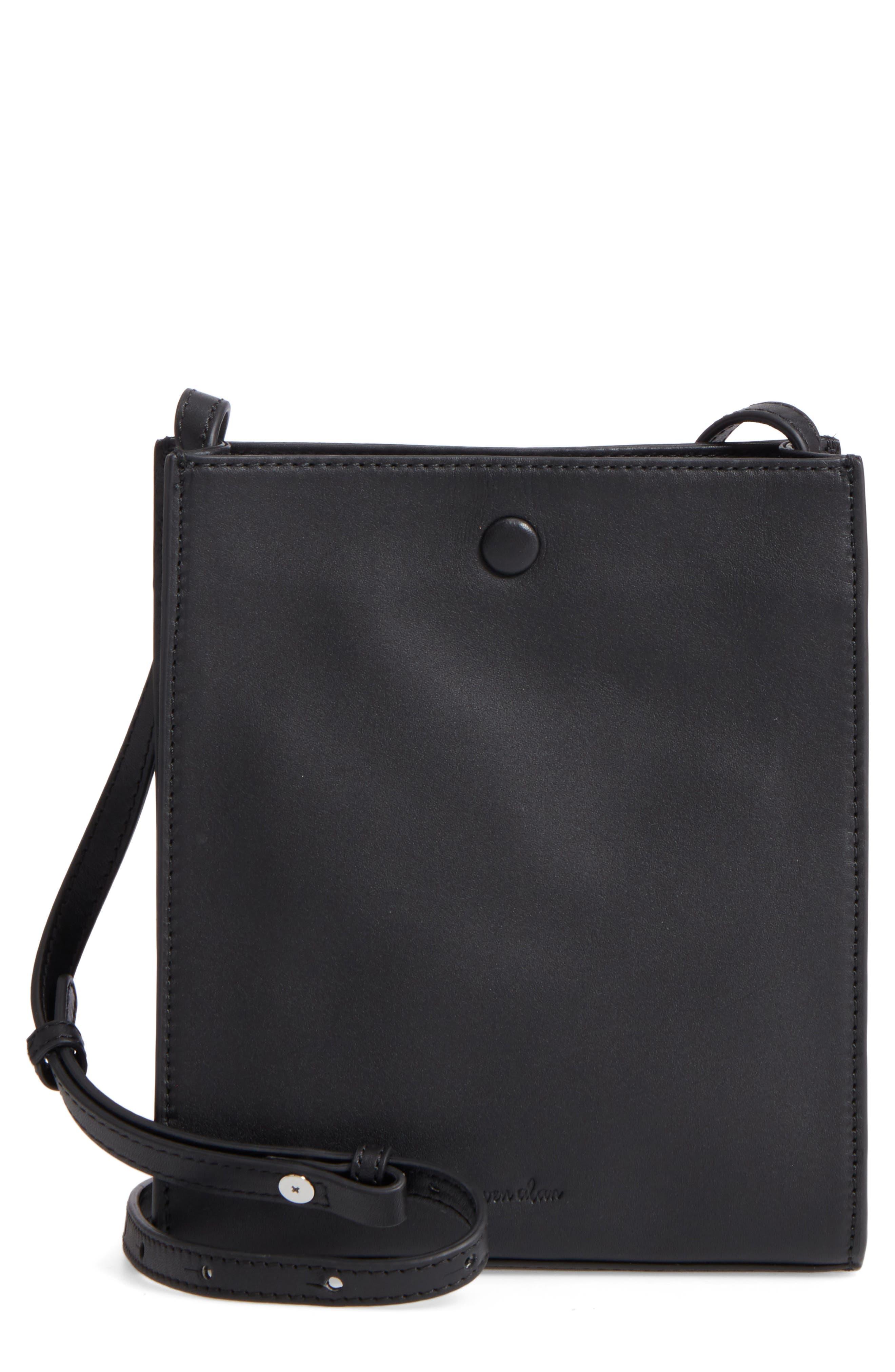 Camden Leather Crossbody Bag,                             Main thumbnail 1, color,                             001