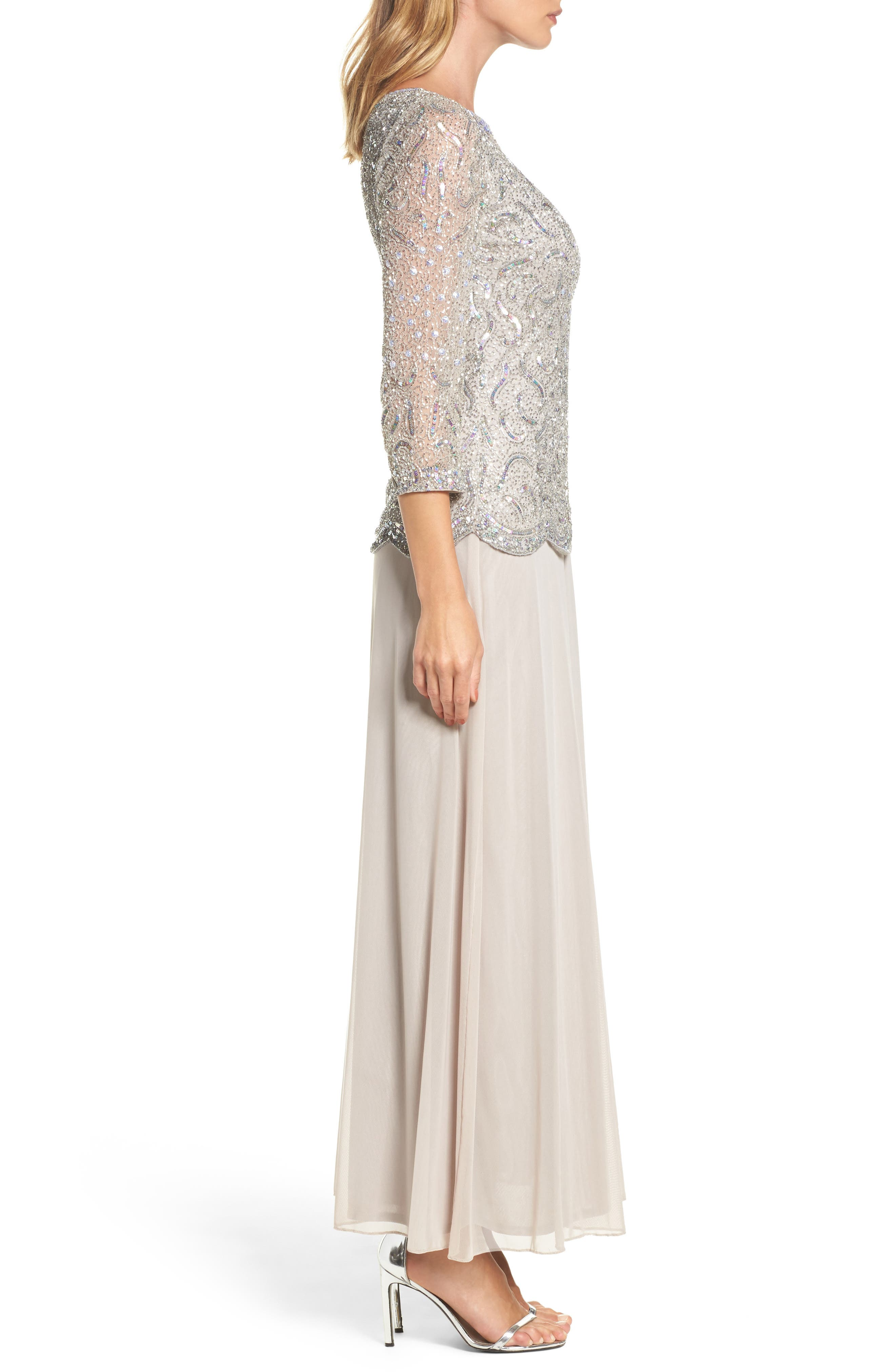 Embellished Two-Piece Gown,                             Alternate thumbnail 3, color,