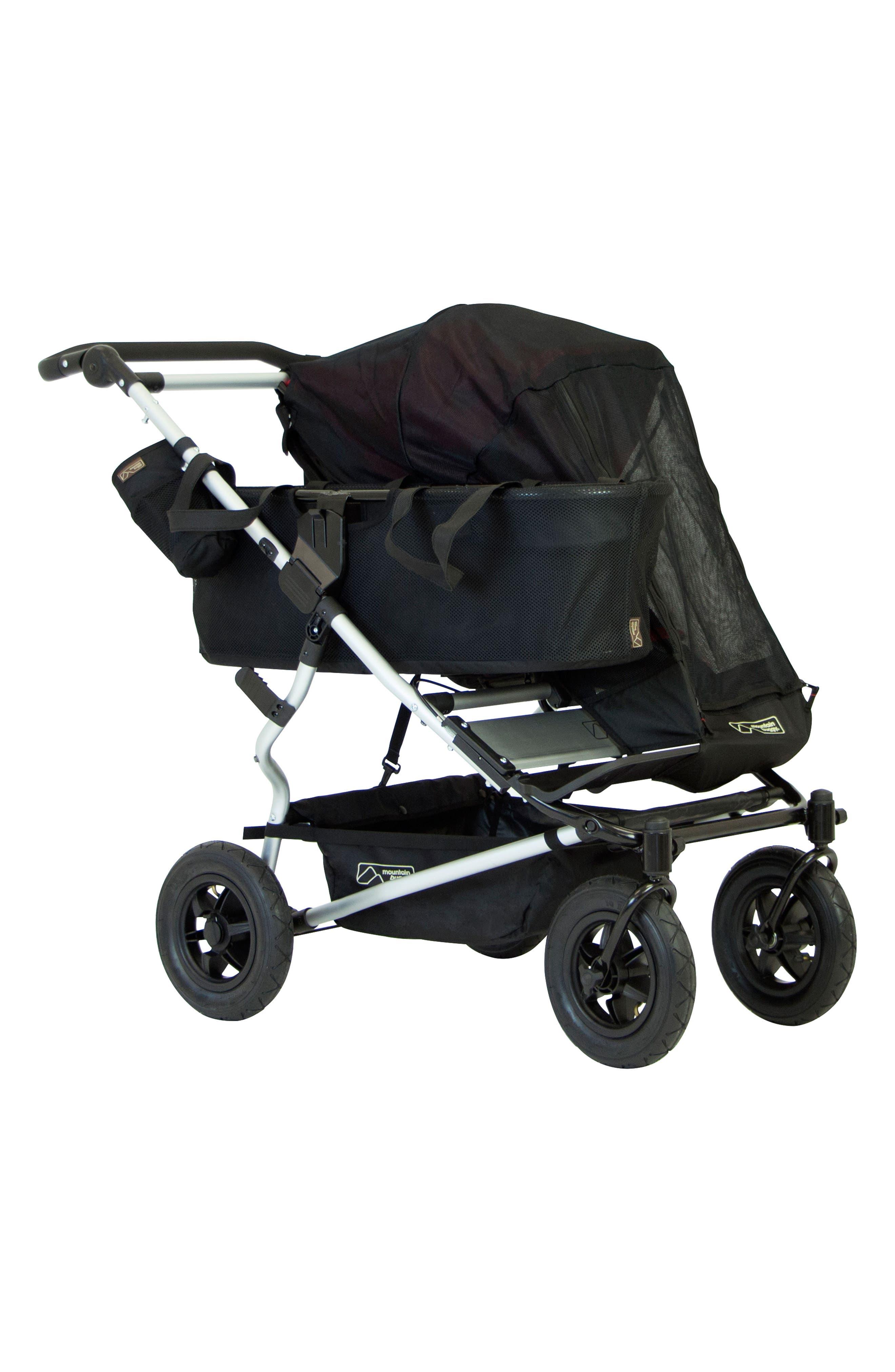 Duet Single Mesh Stroller Cover,                         Main,                         color, BLACK
