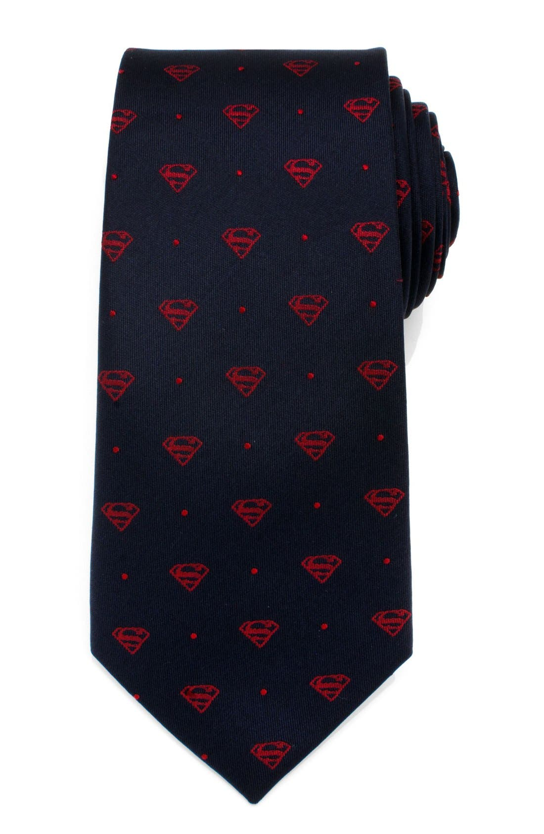 'Superman' Silk Tie,                             Main thumbnail 1, color,                             BLUE