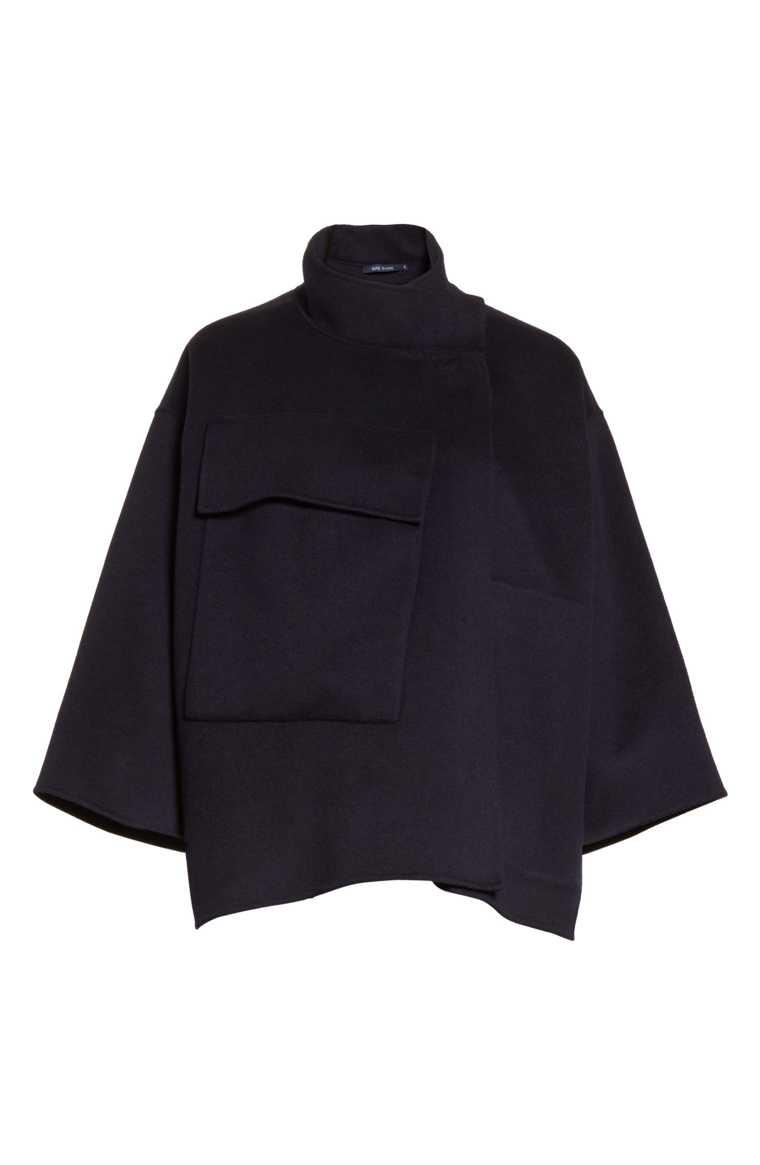 Crop Wool & Cashmere Jacket,                             Alternate thumbnail 5, color,                             410
