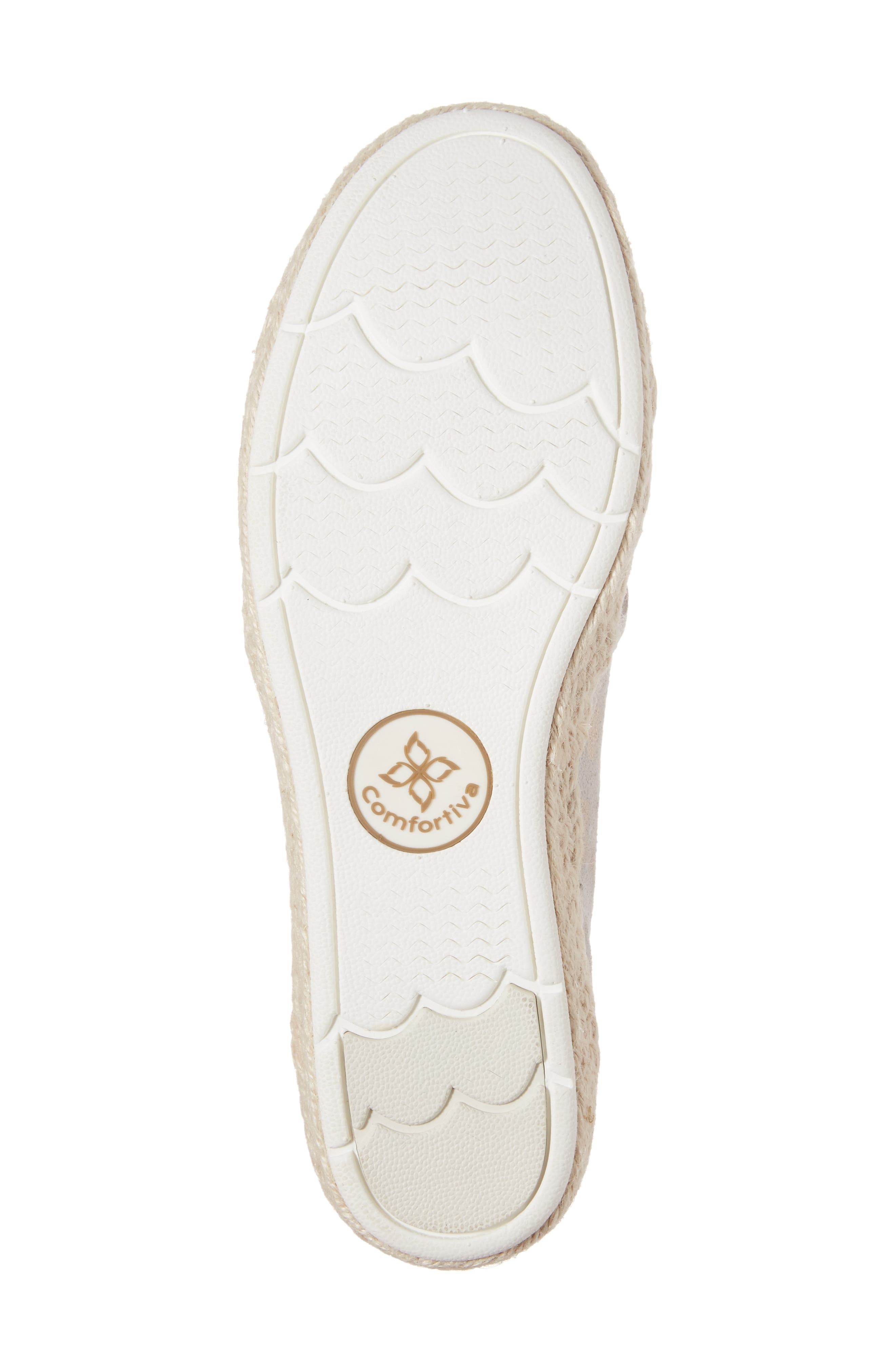 Sheridan Espadrille Flat,                             Alternate thumbnail 6, color,                             IVORY SUEDE