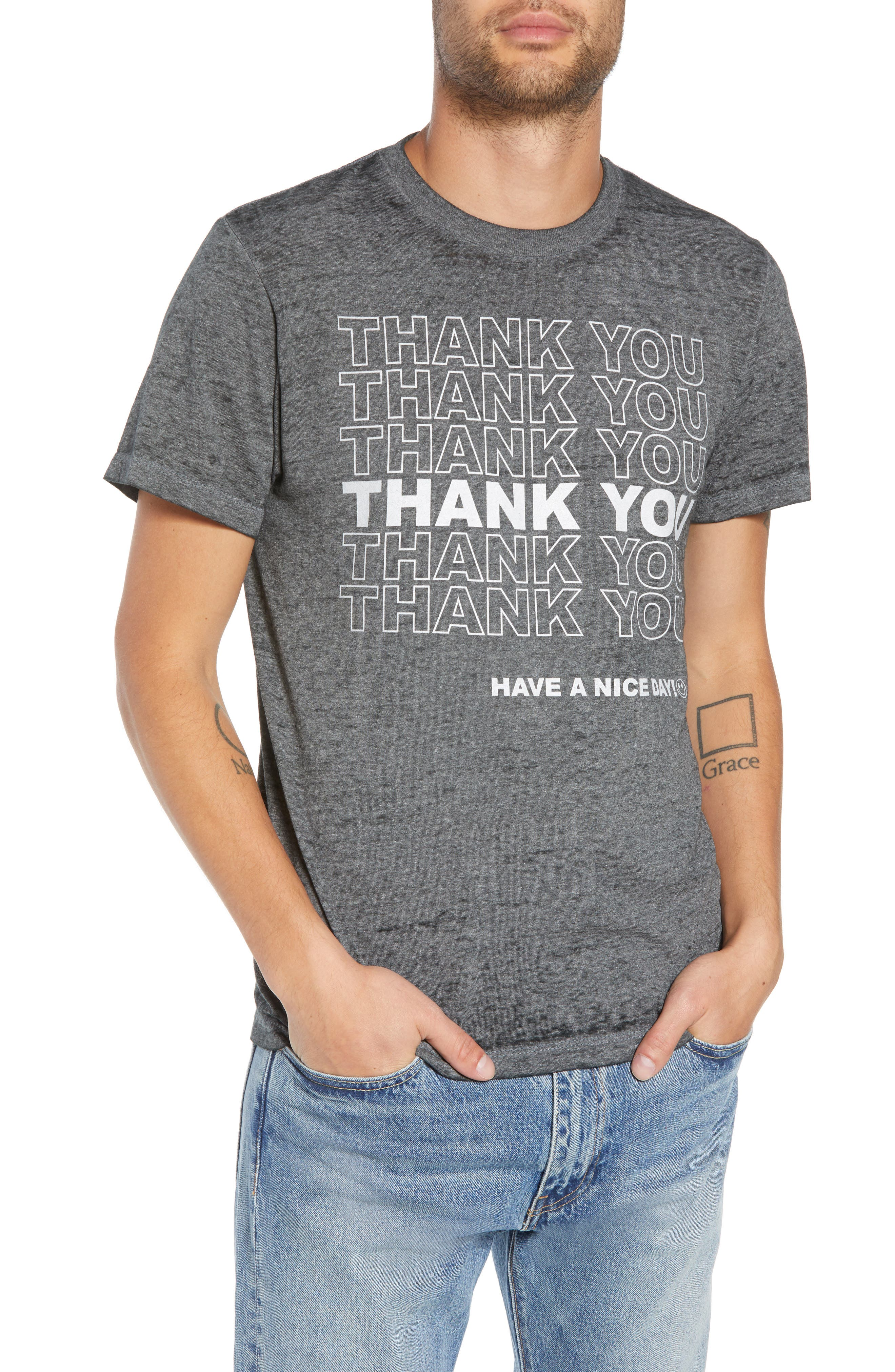 Thank You Graphic T-Shirt,                         Main,                         color, 030