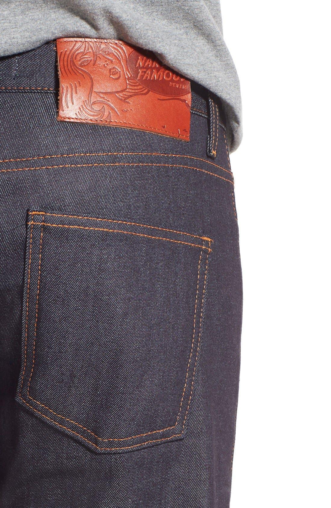 'Super Skinny Guy' Skinny Fit Selvedge Jeans,                             Alternate thumbnail 5, color,                             11OZ STRETCH