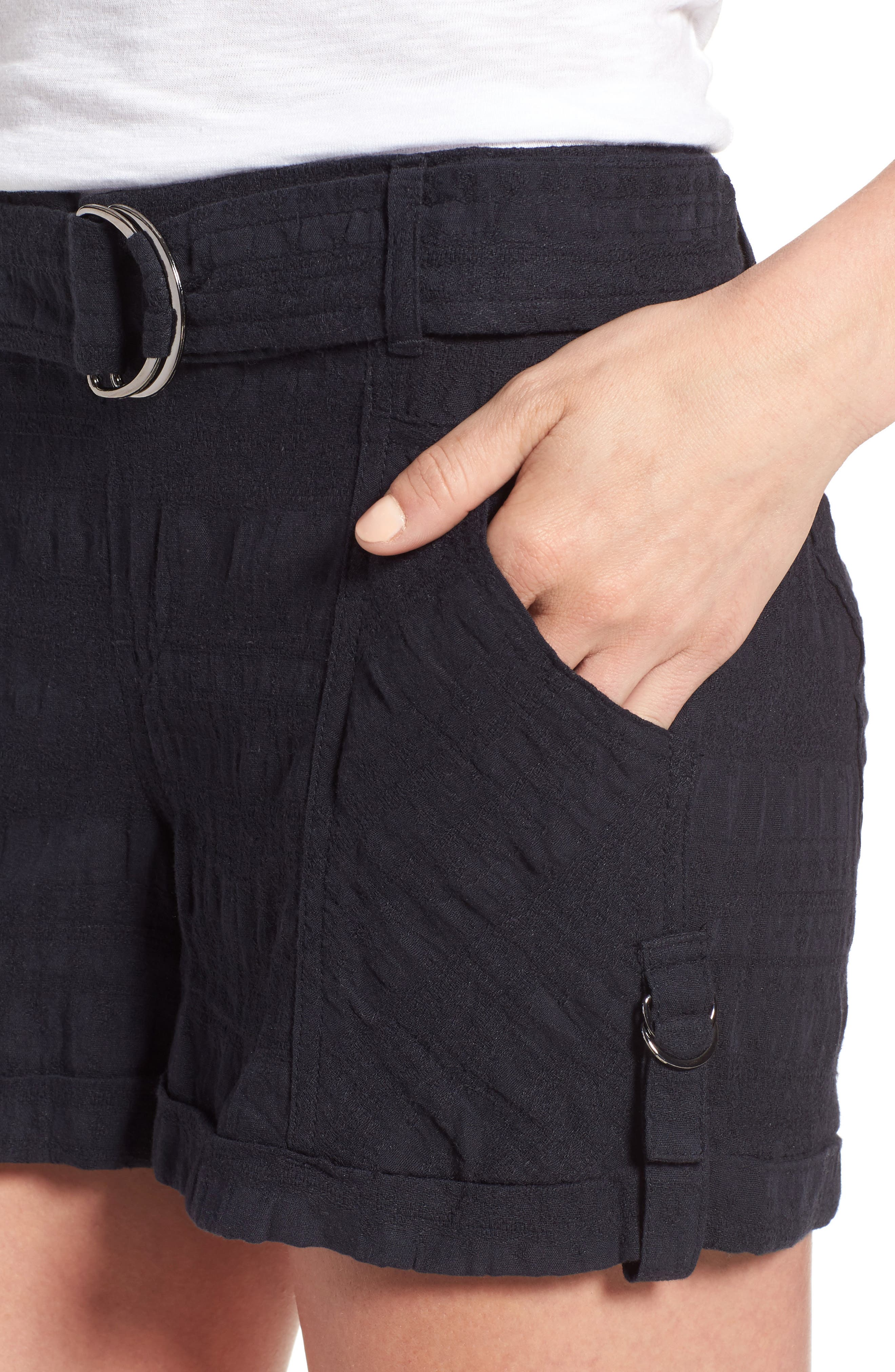 D-Ring Belted Shorts,                             Alternate thumbnail 4, color,                             490