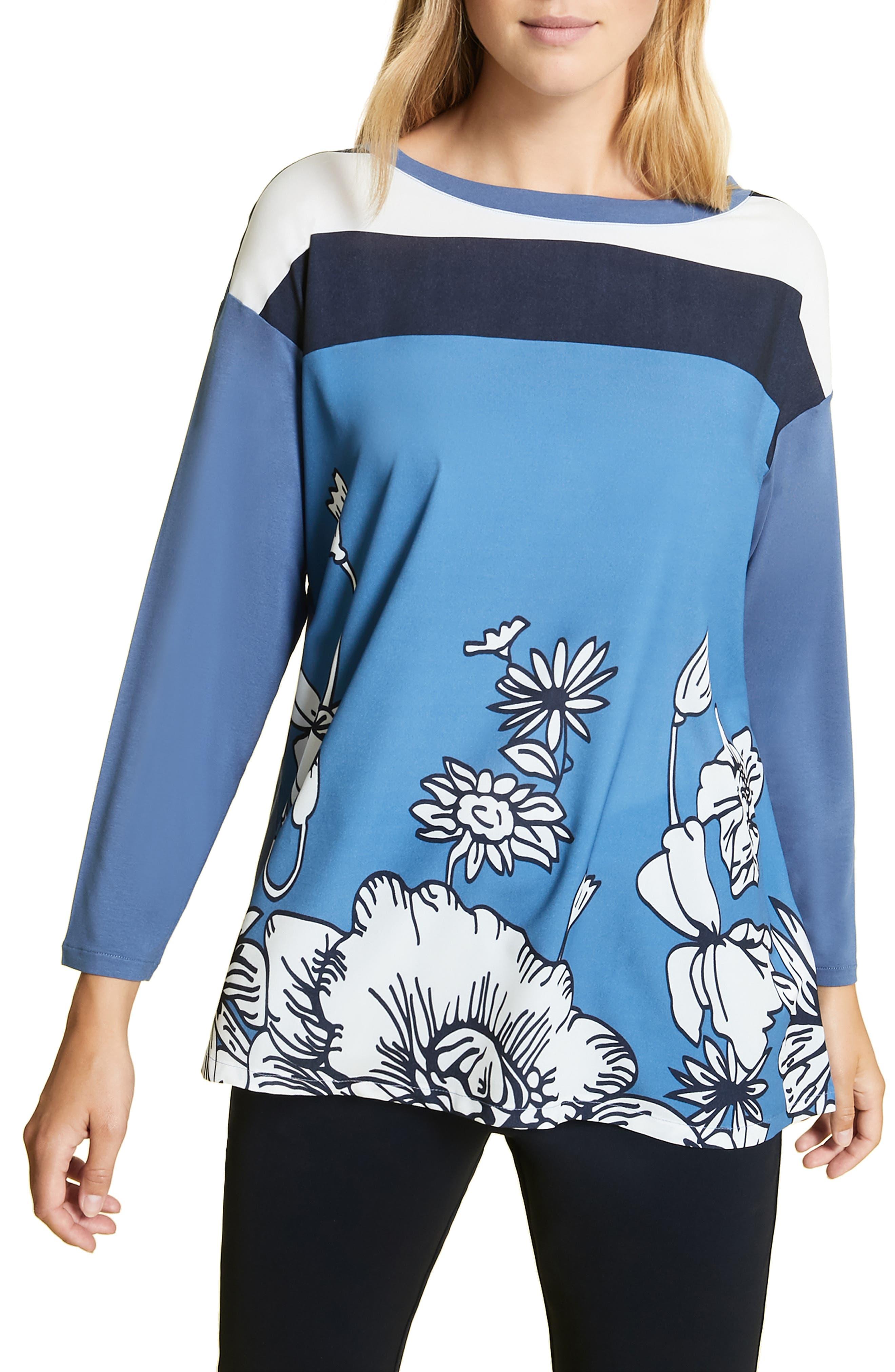 plus size women's marina rinaldi venere mixed media top, size x-large - white