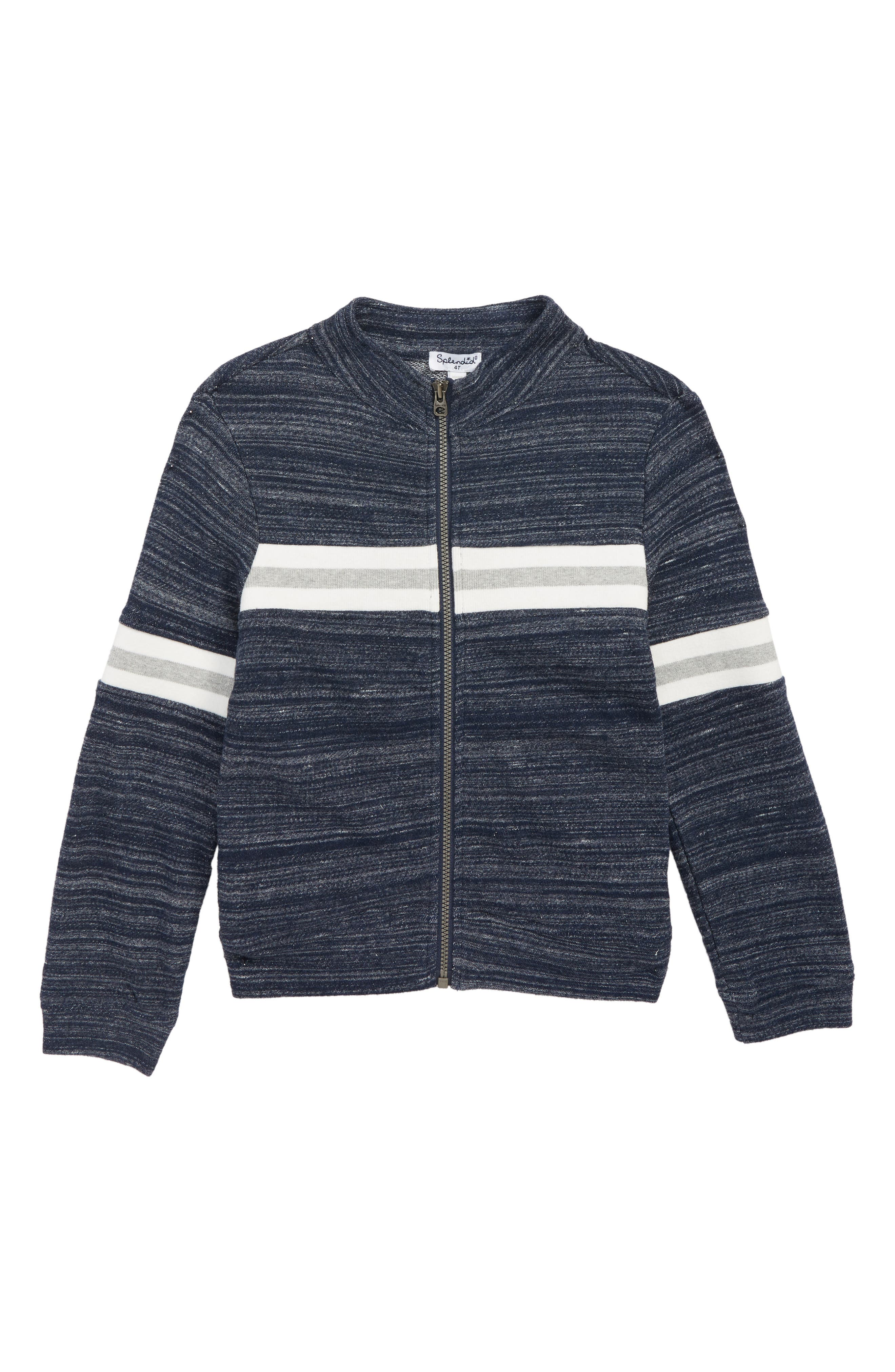French Terry Jacket,                         Main,                         color, TRUE NAVY