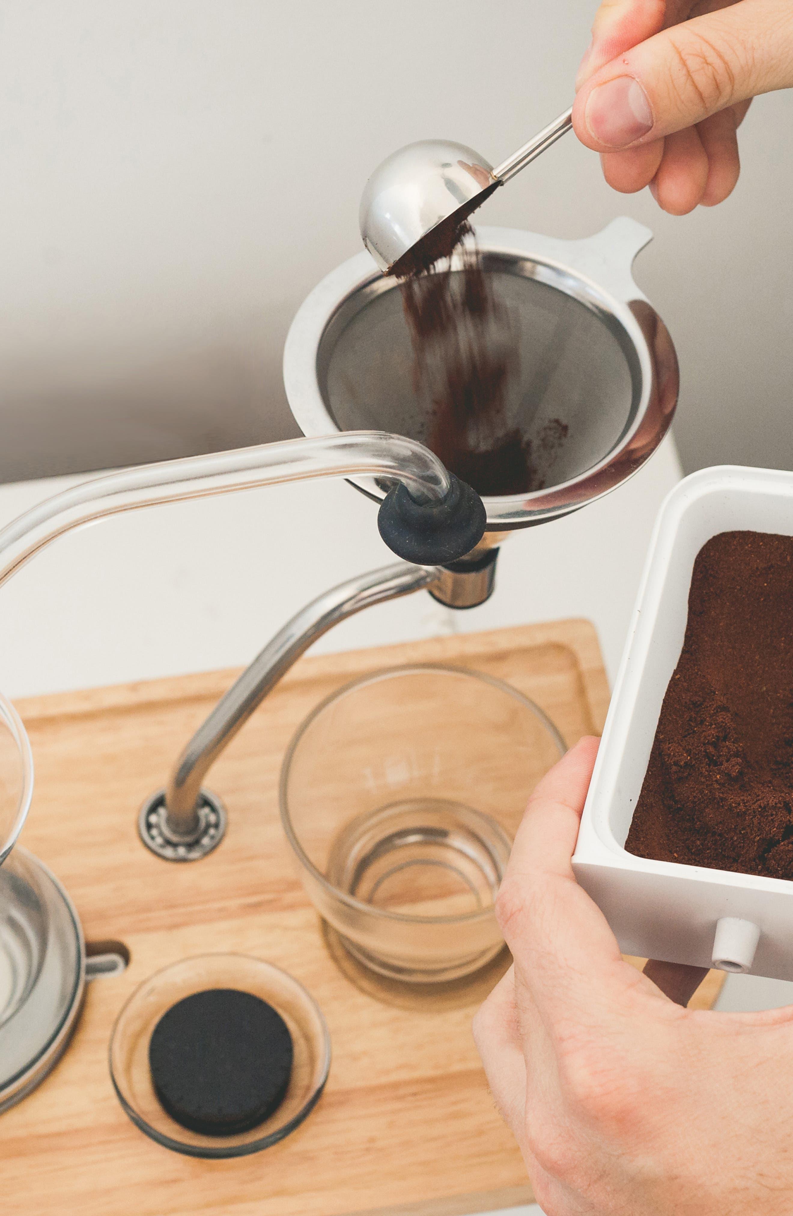Soda Says x Barisieur Coffee & Tea Alarm Clock,                             Alternate thumbnail 10, color,                             WHITE/ RUBBERWOOD