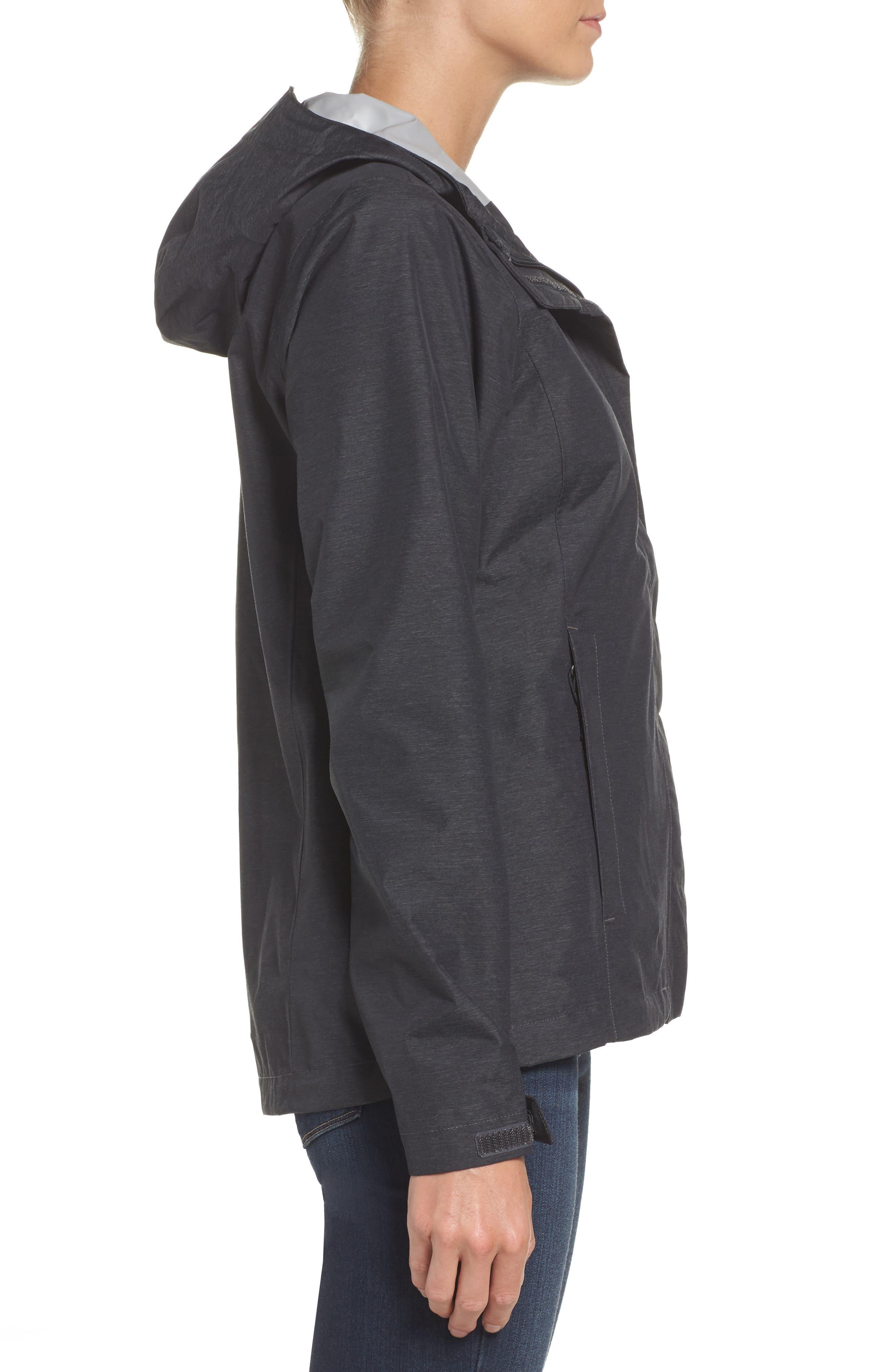 Venture 2 Waterproof Jacket,                             Alternate thumbnail 3, color,                             TNF DARK GREY HEATHER