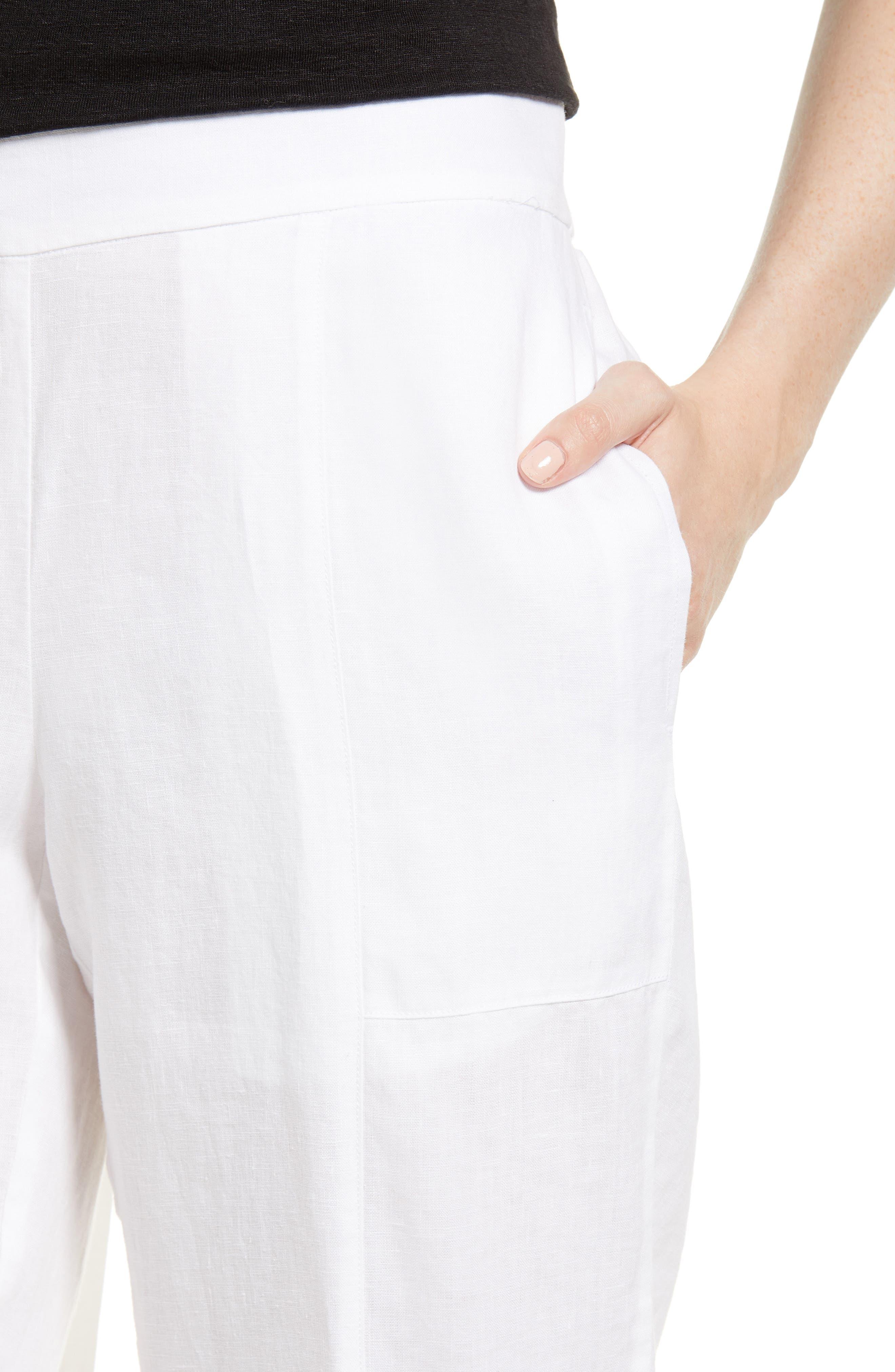 Organic Linen Crop Pants,                             Alternate thumbnail 15, color,