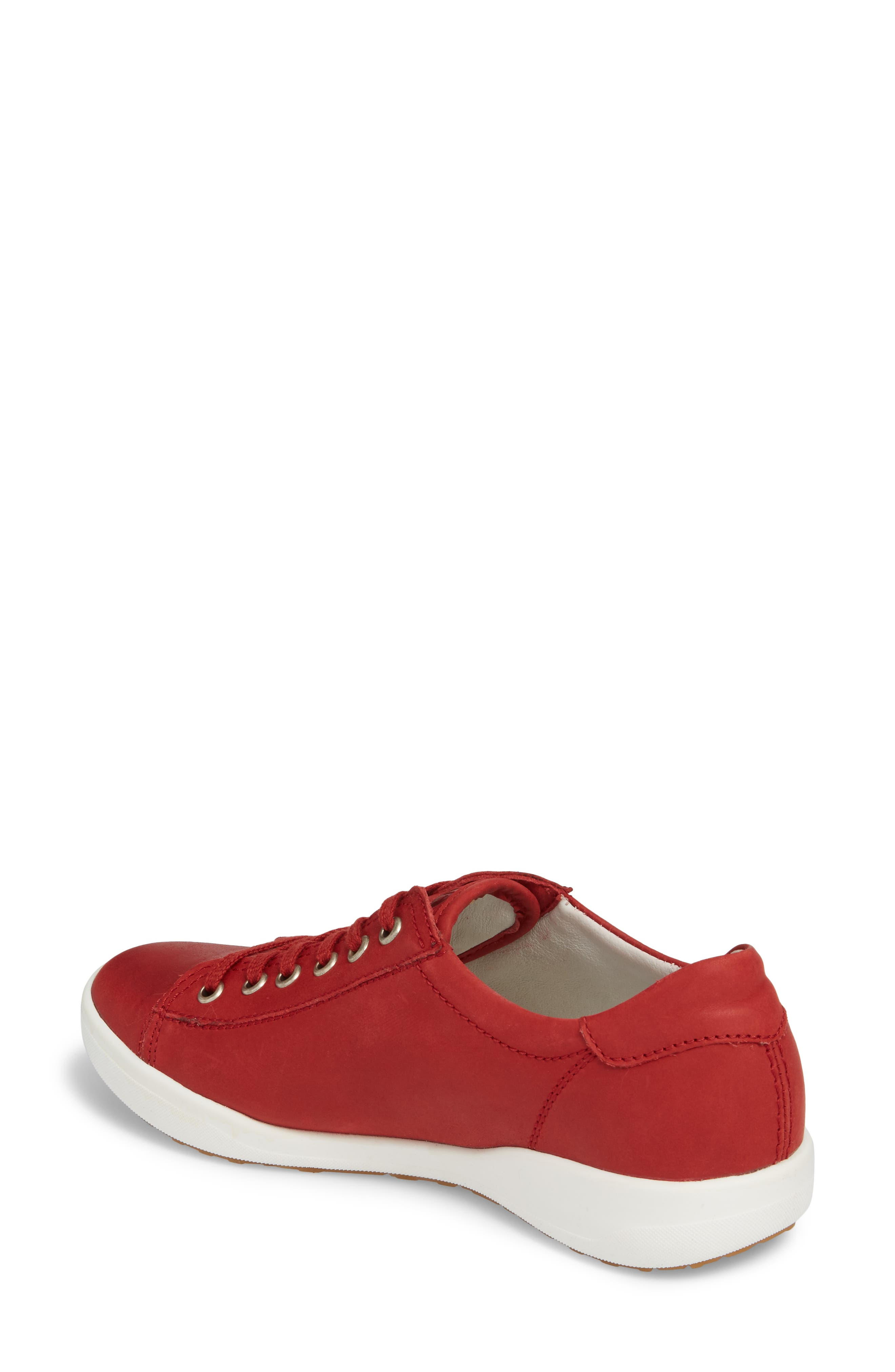 Sina 11 Sneaker,                             Alternate thumbnail 2, color,                             RED LEATHER 2