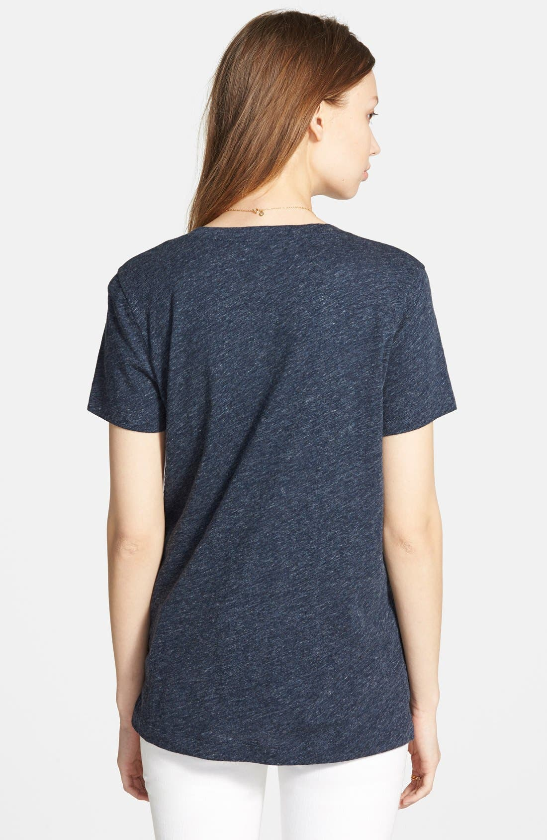 Whisper Cotton V-Neck Pocket Tee,                             Alternate thumbnail 246, color,