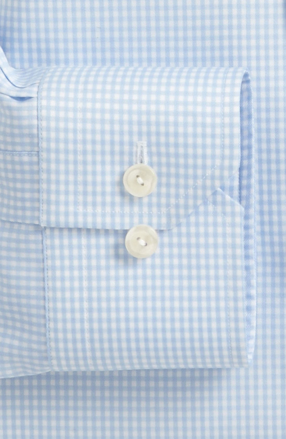Contemporary Fit Check Dress Shirt,                             Alternate thumbnail 7, color,                             BLUE