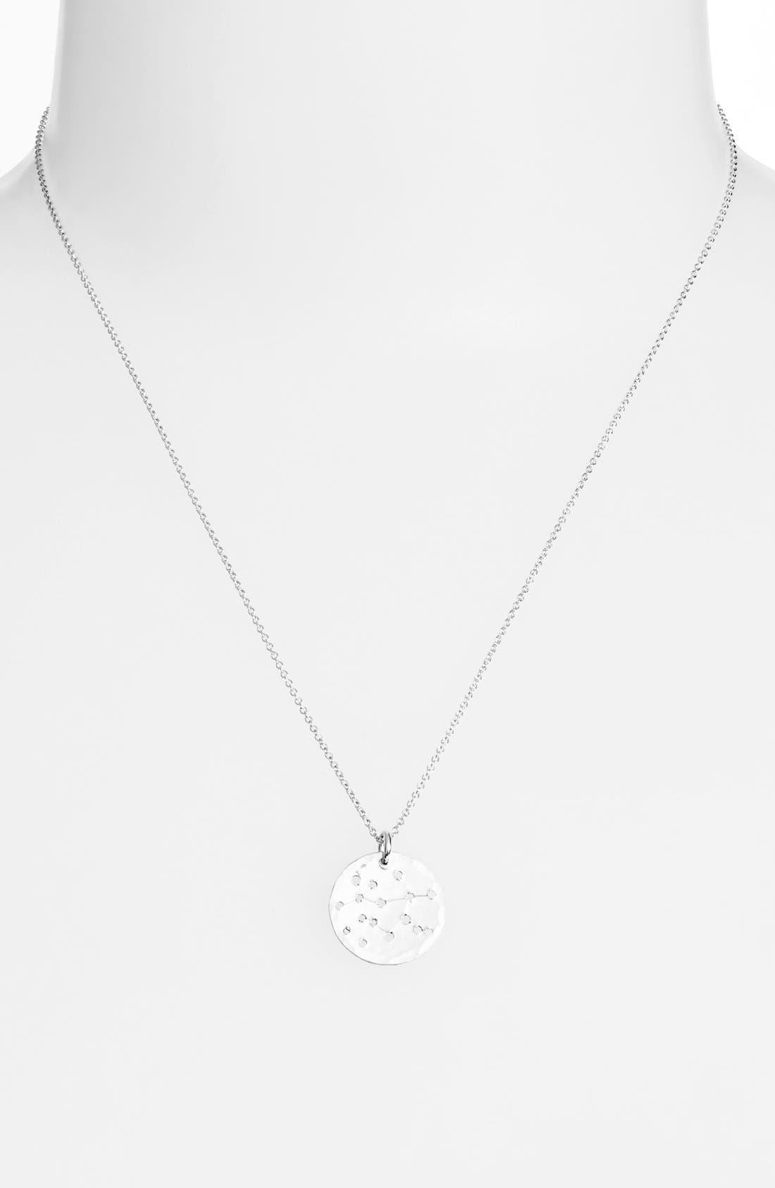 Ija 'Small Zodiac' Sterling Silver Necklace,                             Main thumbnail 3, color,
