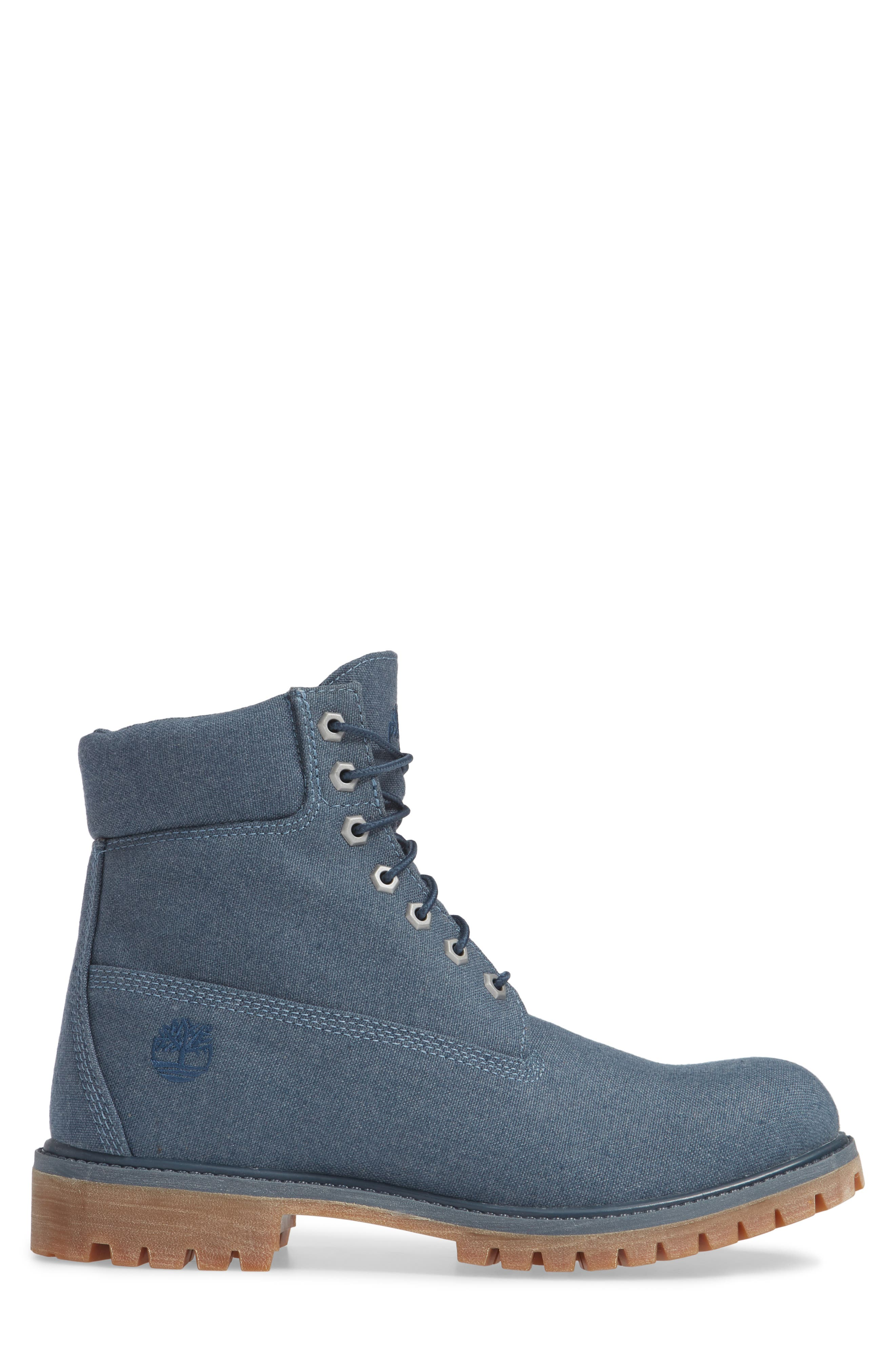 Premium Plain Toe Boot,                             Alternate thumbnail 3, color,                             MIDNIGHT NAVY THREAD