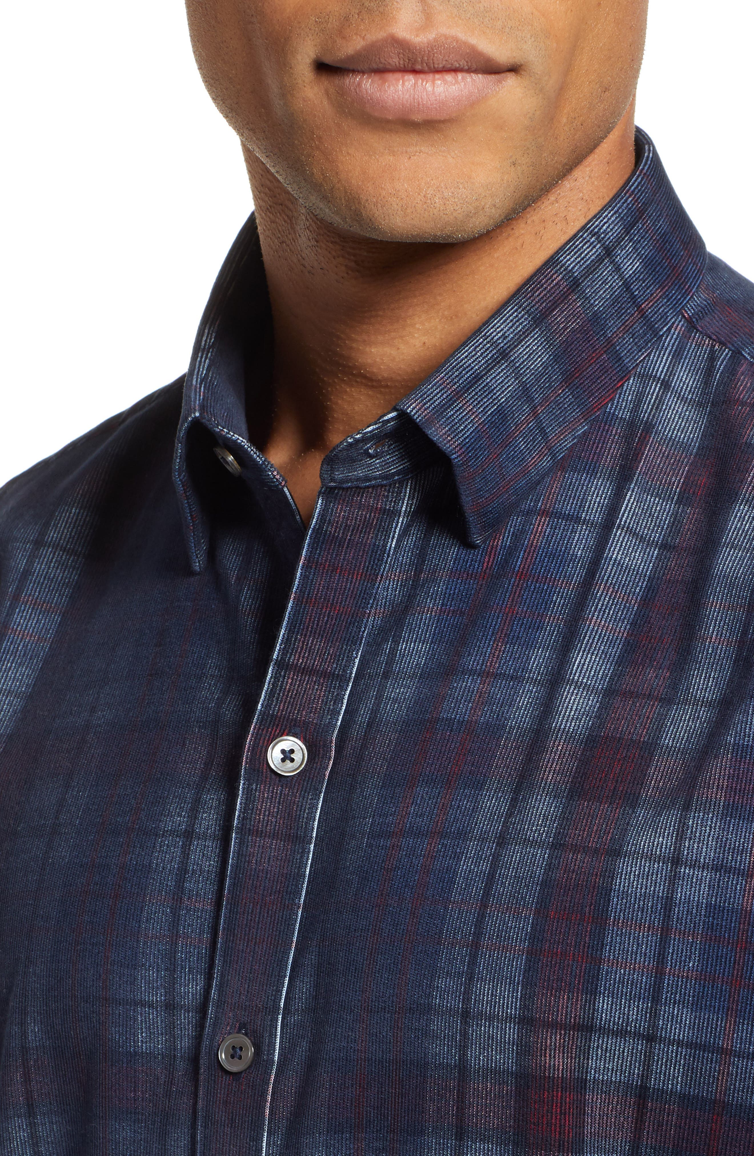 Lemke Regular Fit Corduroy Sport Shirt,                             Alternate thumbnail 2, color,                             NAVY