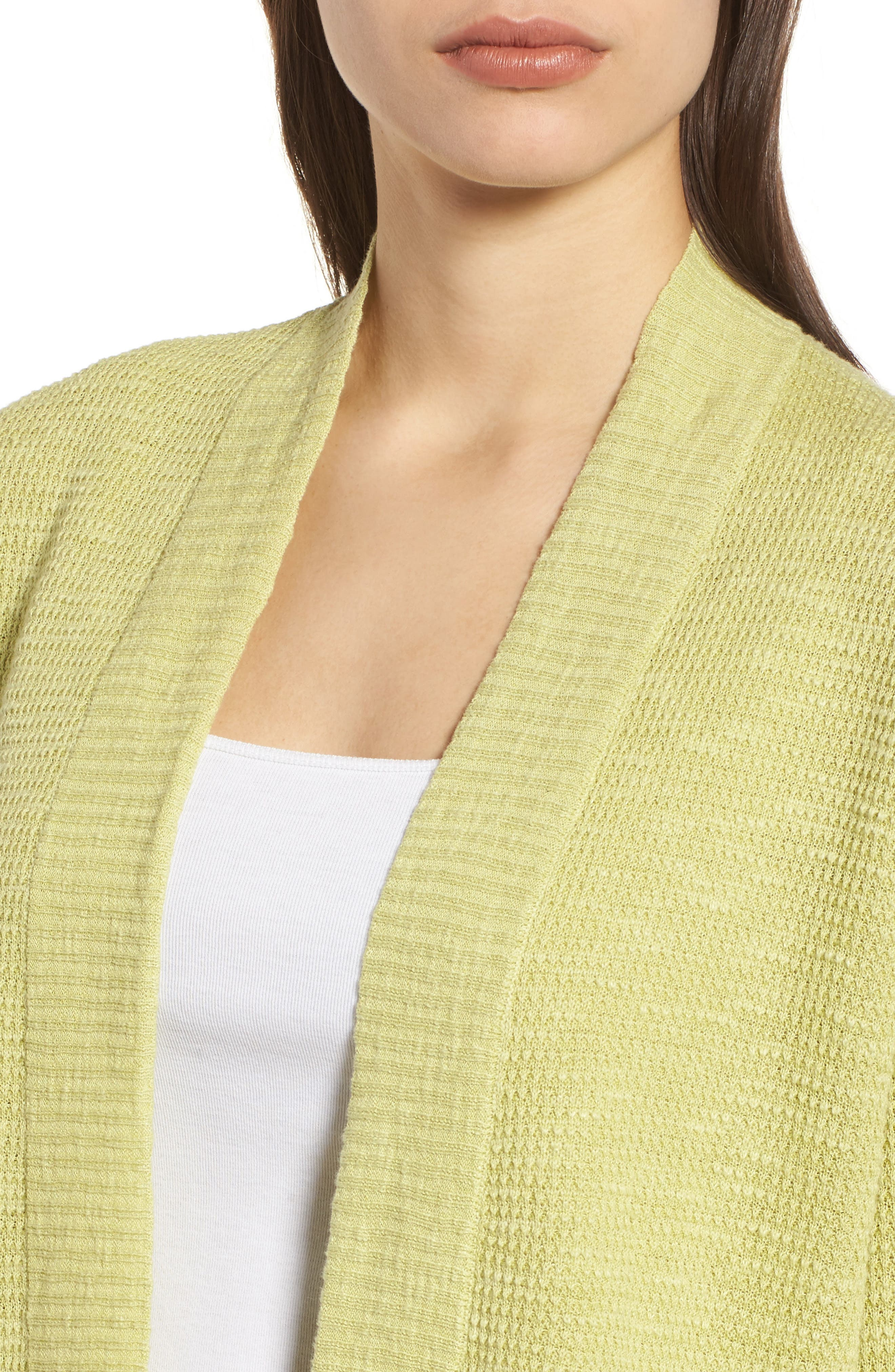 Organic Linen & Cotton Cardigan,                             Alternate thumbnail 7, color,