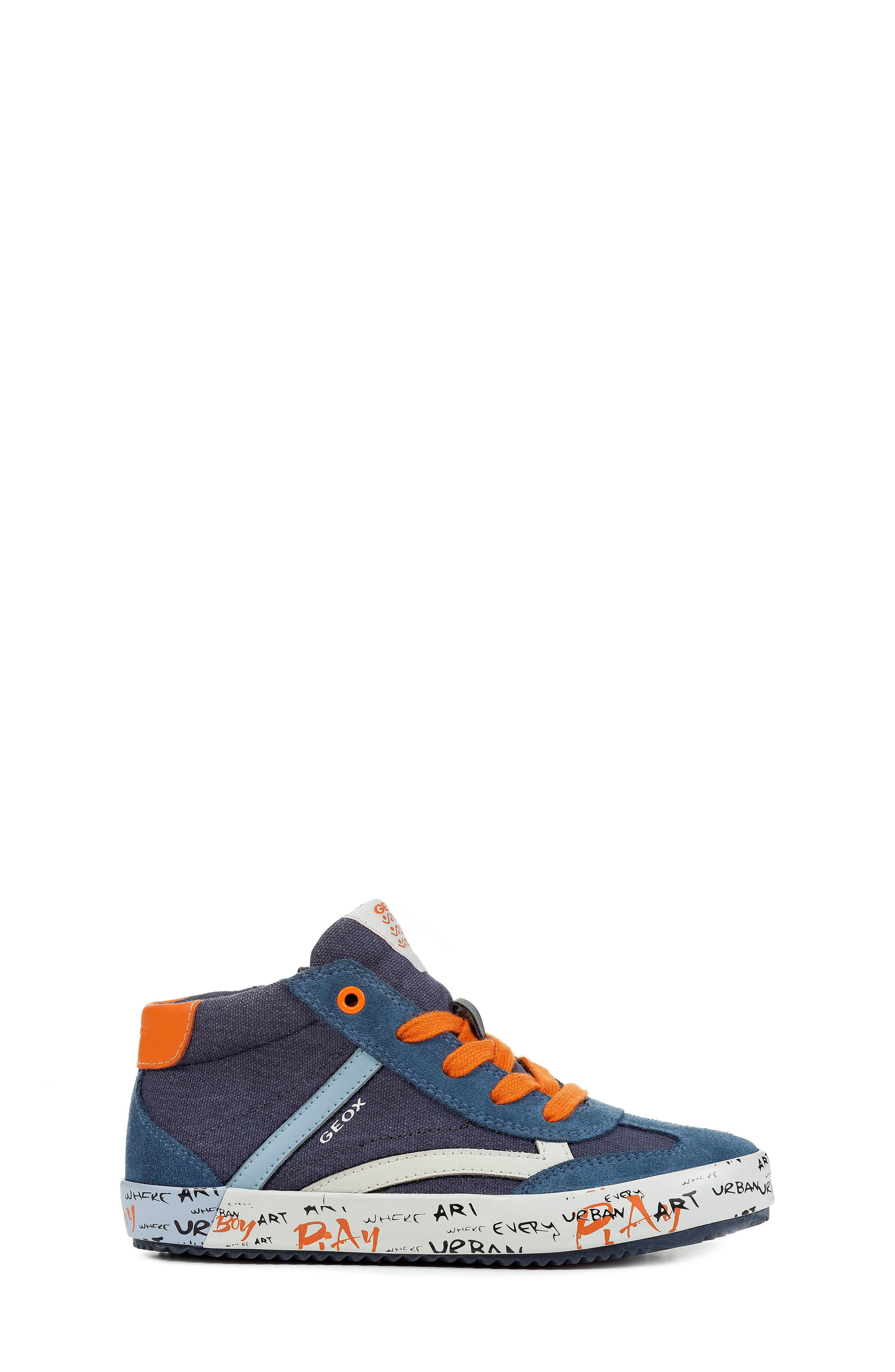 Alonisso 34 High Top Sneaker,                             Alternate thumbnail 3, color,                             NAVY/ DARK ORANGE