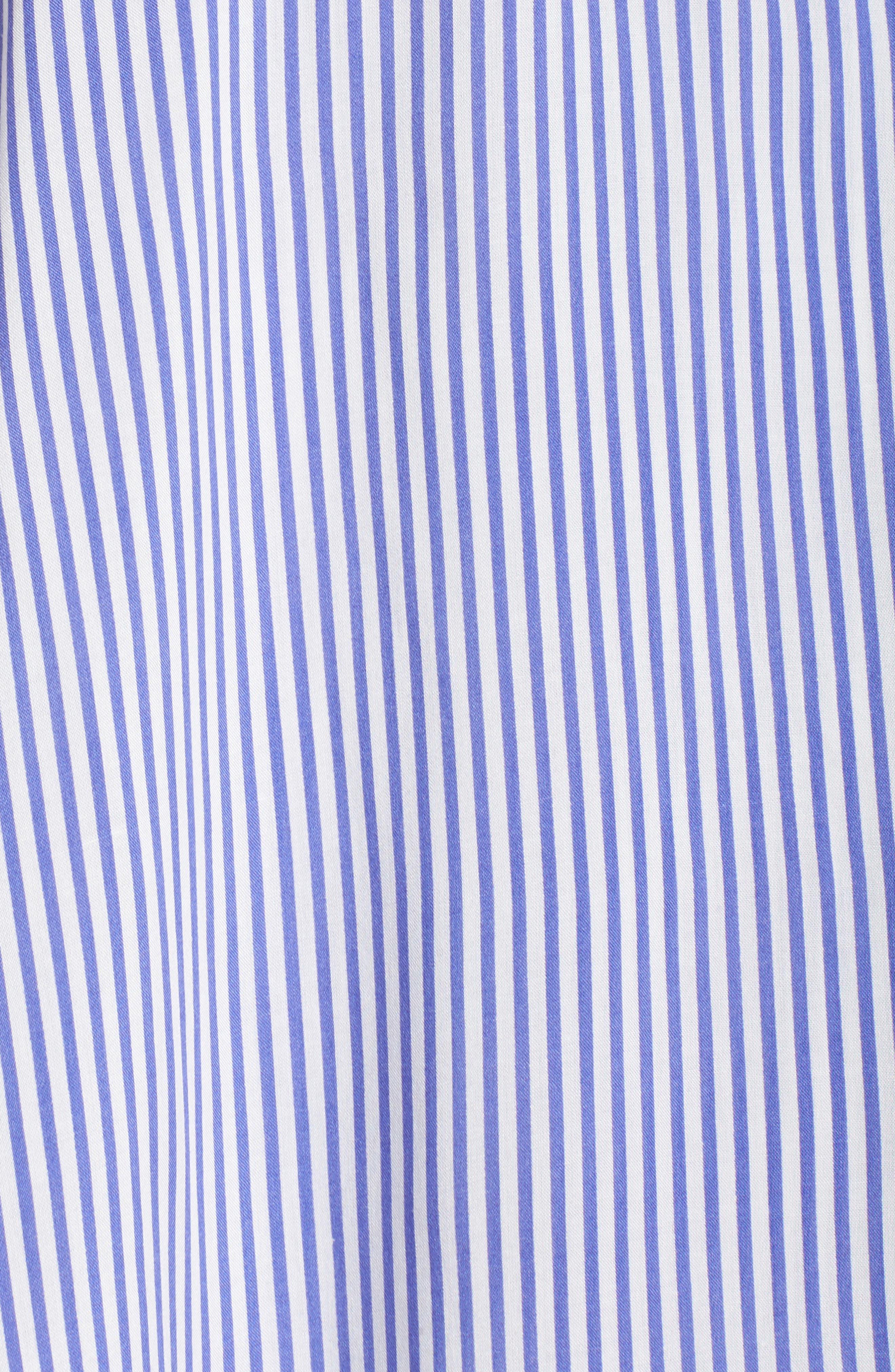 Stripe Ruffle Maxi Dress,                             Alternate thumbnail 6, color,