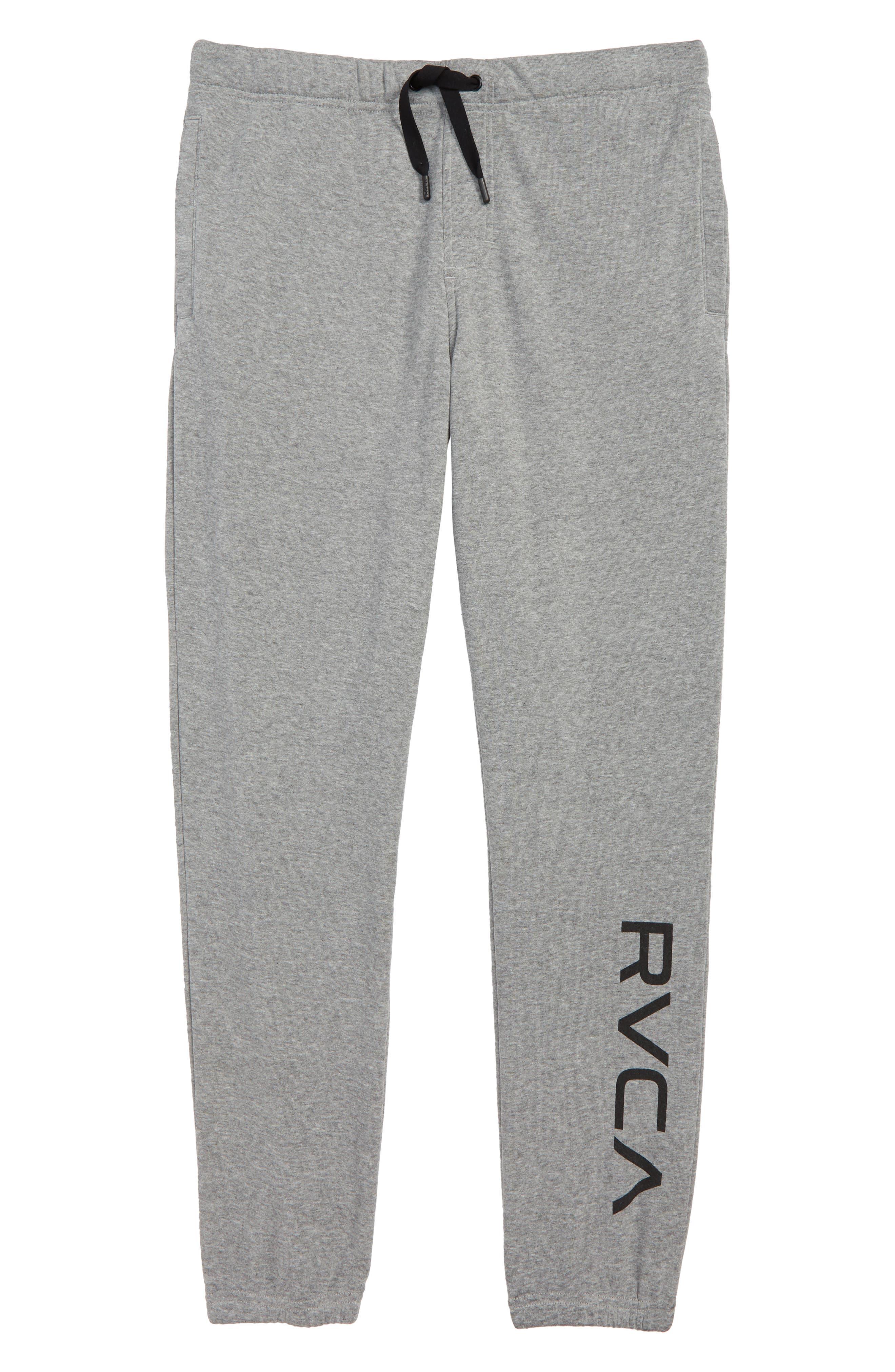 Boys Rvca Fleece Sweatpants Size L (1416)  Grey