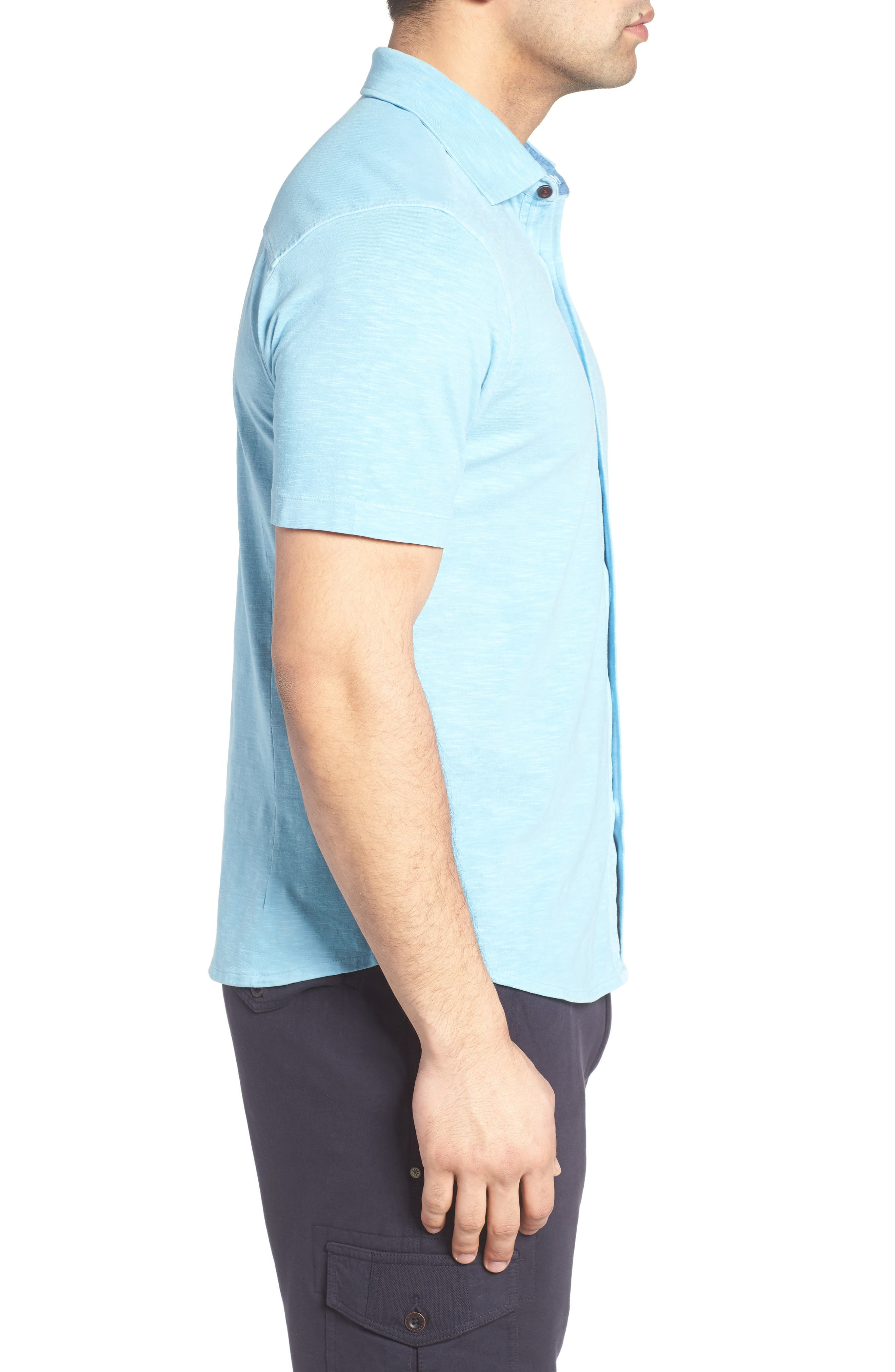 McAdams Slub Jersey Sport Shirt,                             Alternate thumbnail 9, color,