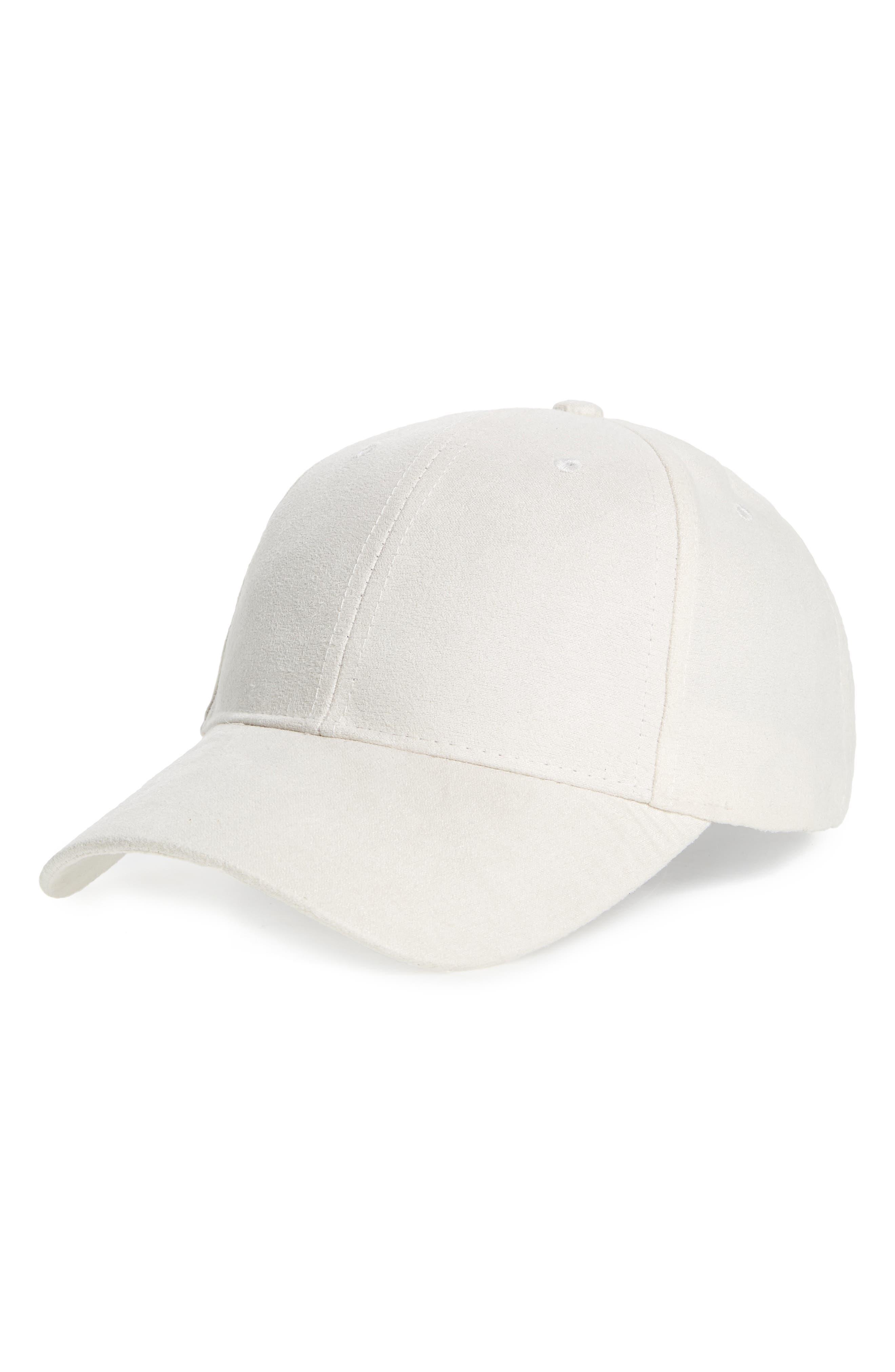 Faux Suede Baseball Cap,                         Main,                         color, 100