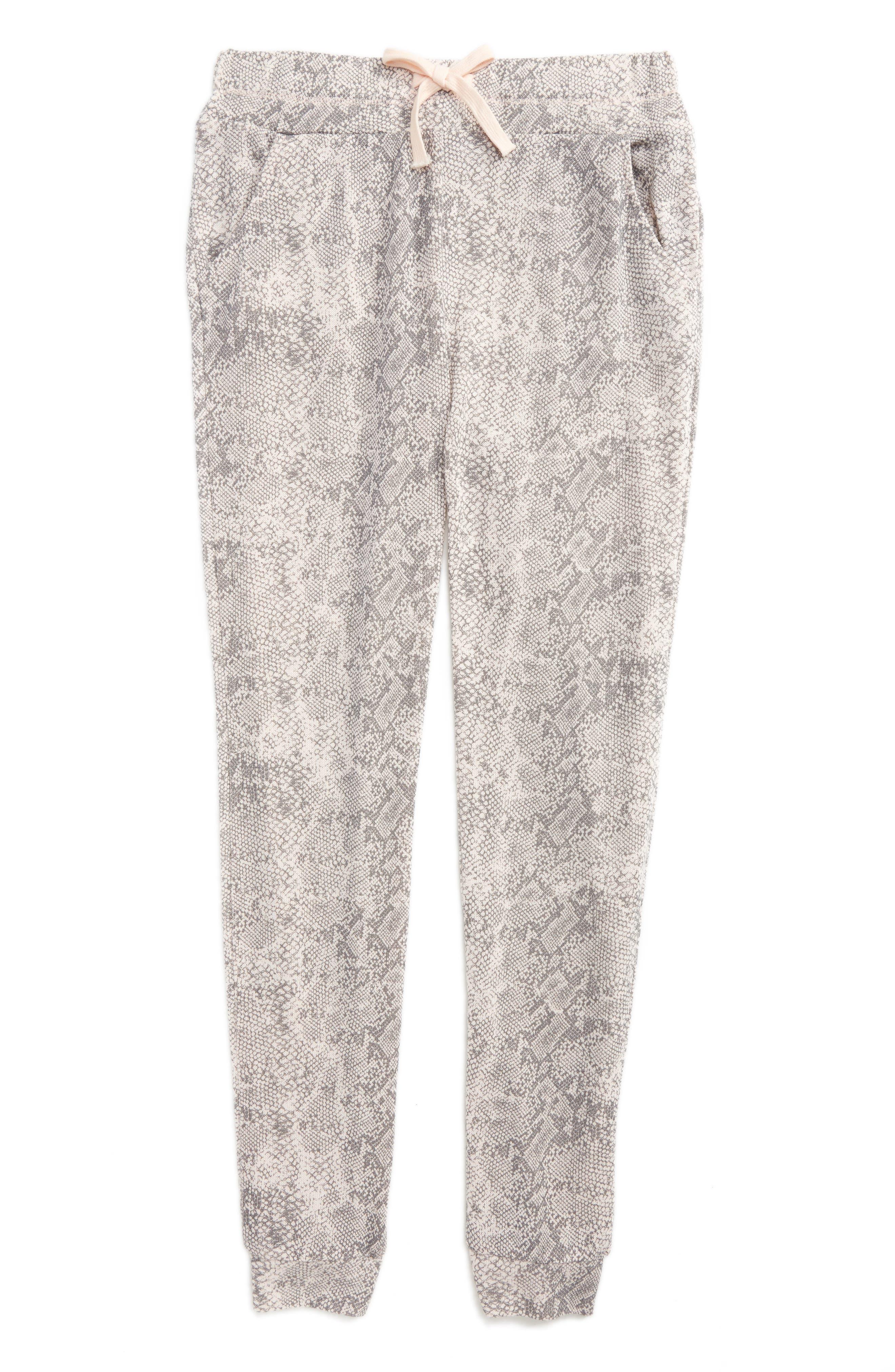 Python Print Knit Jogger Pants,                             Main thumbnail 1, color,