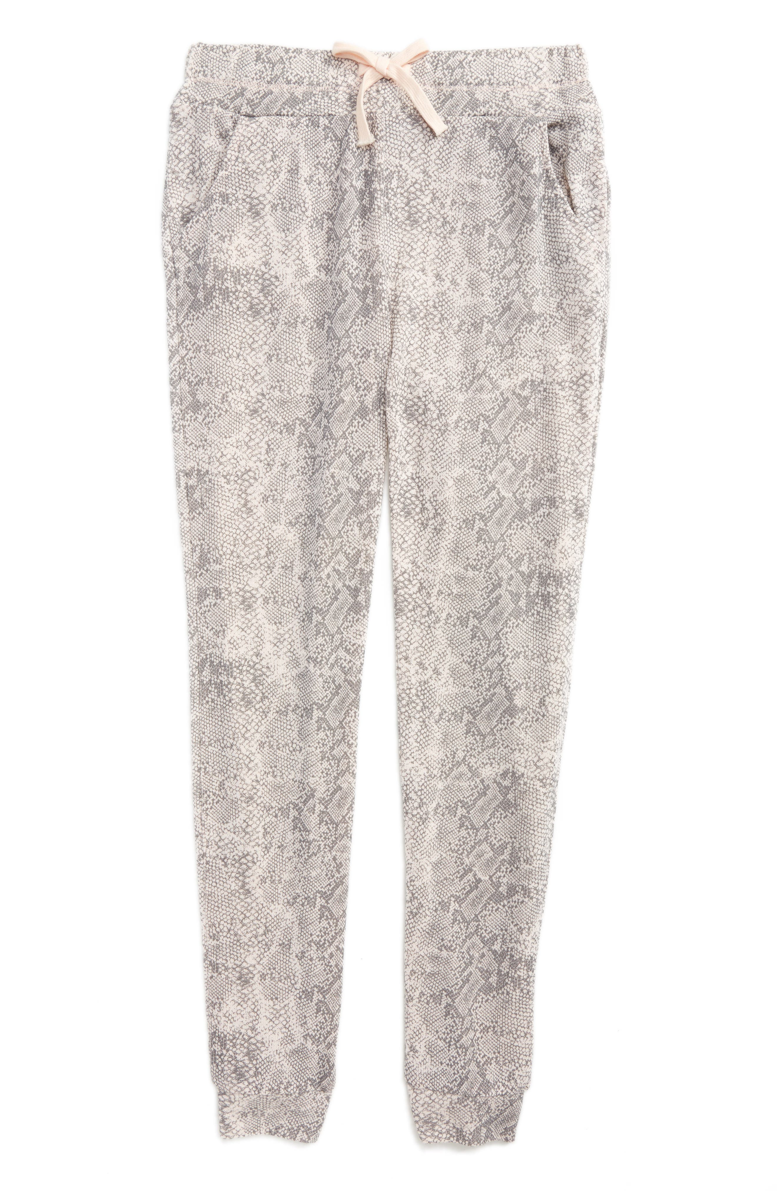 Python Print Knit Jogger Pants,                         Main,                         color,