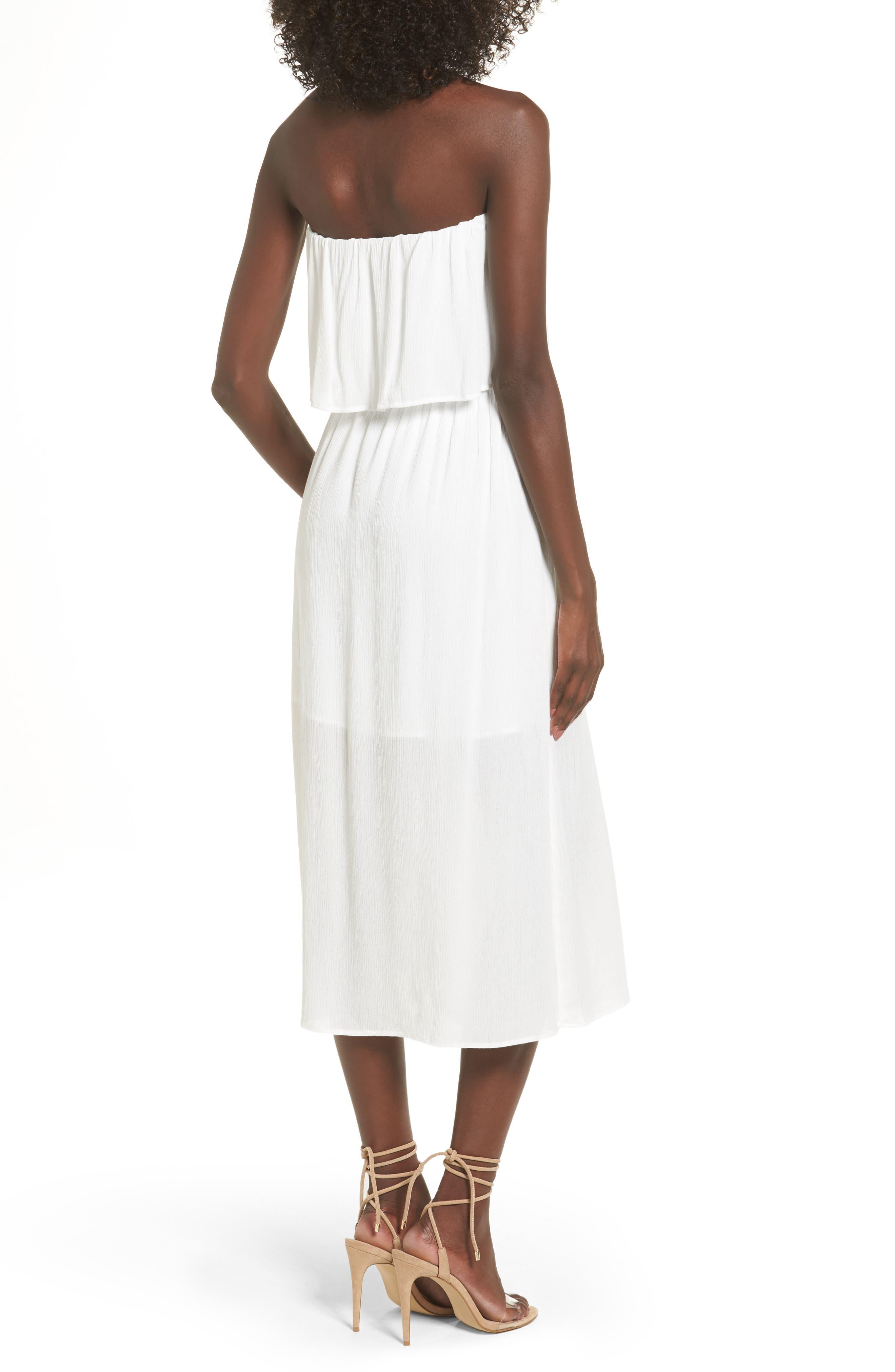 Kizzie Strapless Midi Dress,                             Alternate thumbnail 2, color,