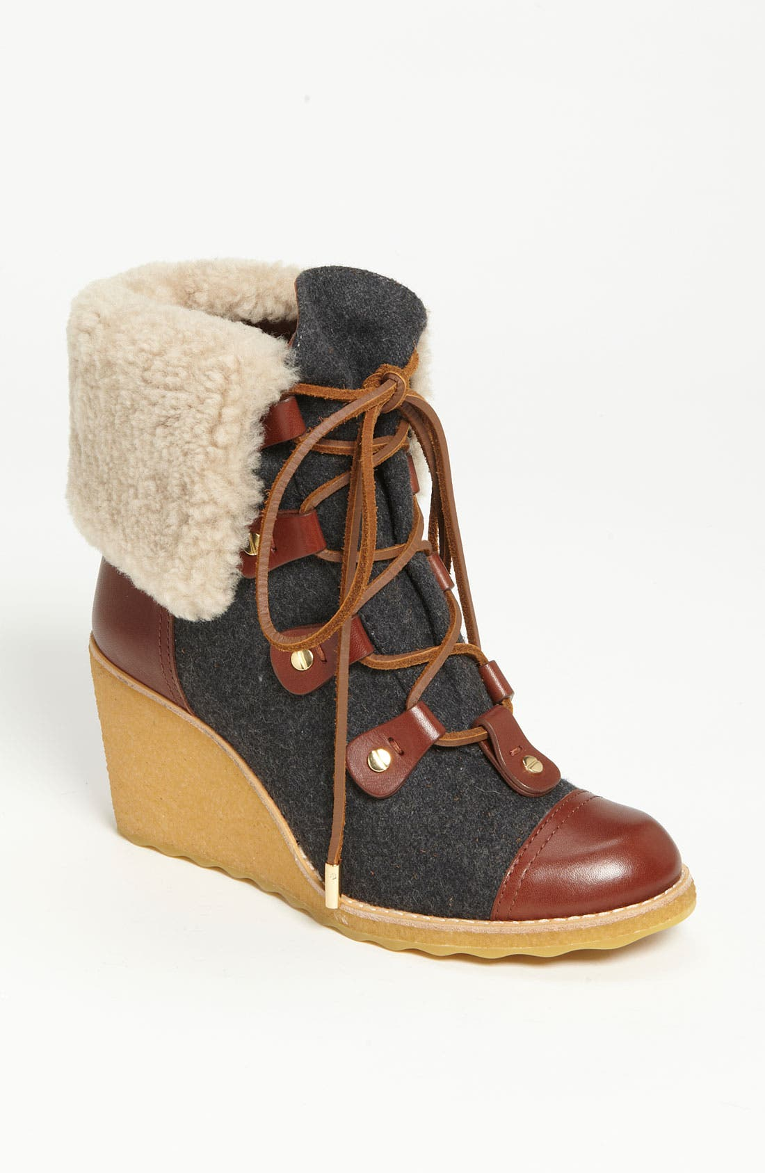 'Marley' Wedge Bootie,                             Main thumbnail 1, color,                             058