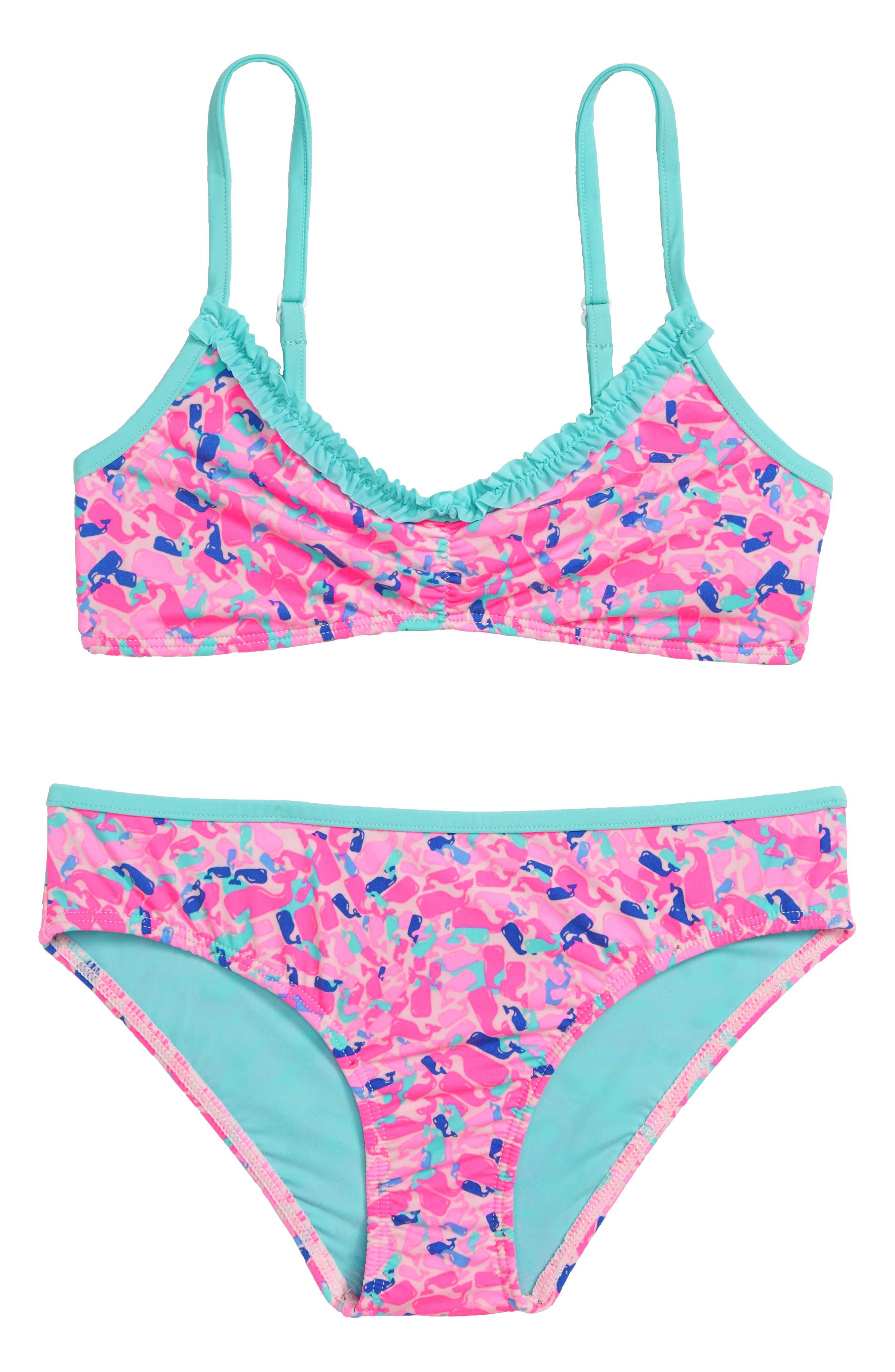 Whale Swirl Two-Piece Bikini Swimsuit,                         Main,                         color, 650