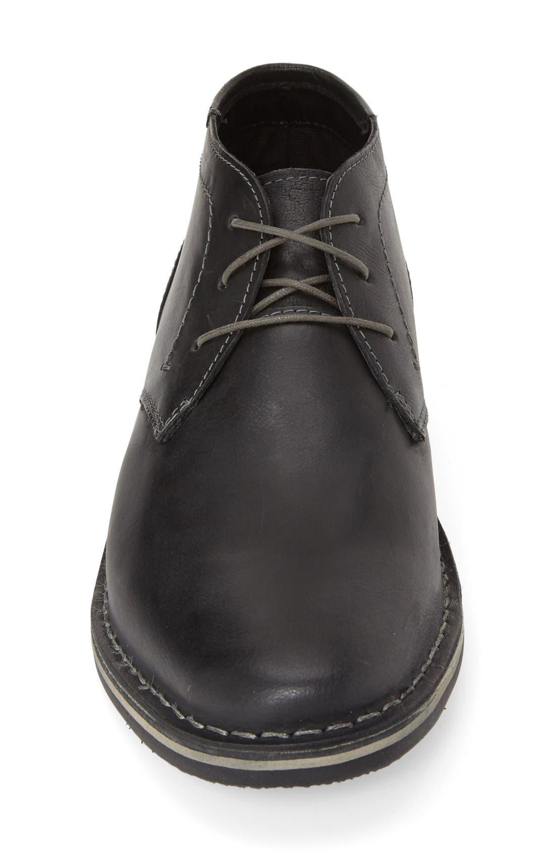 'Harken' Leather Chukka Boot,                             Alternate thumbnail 3, color,                             001