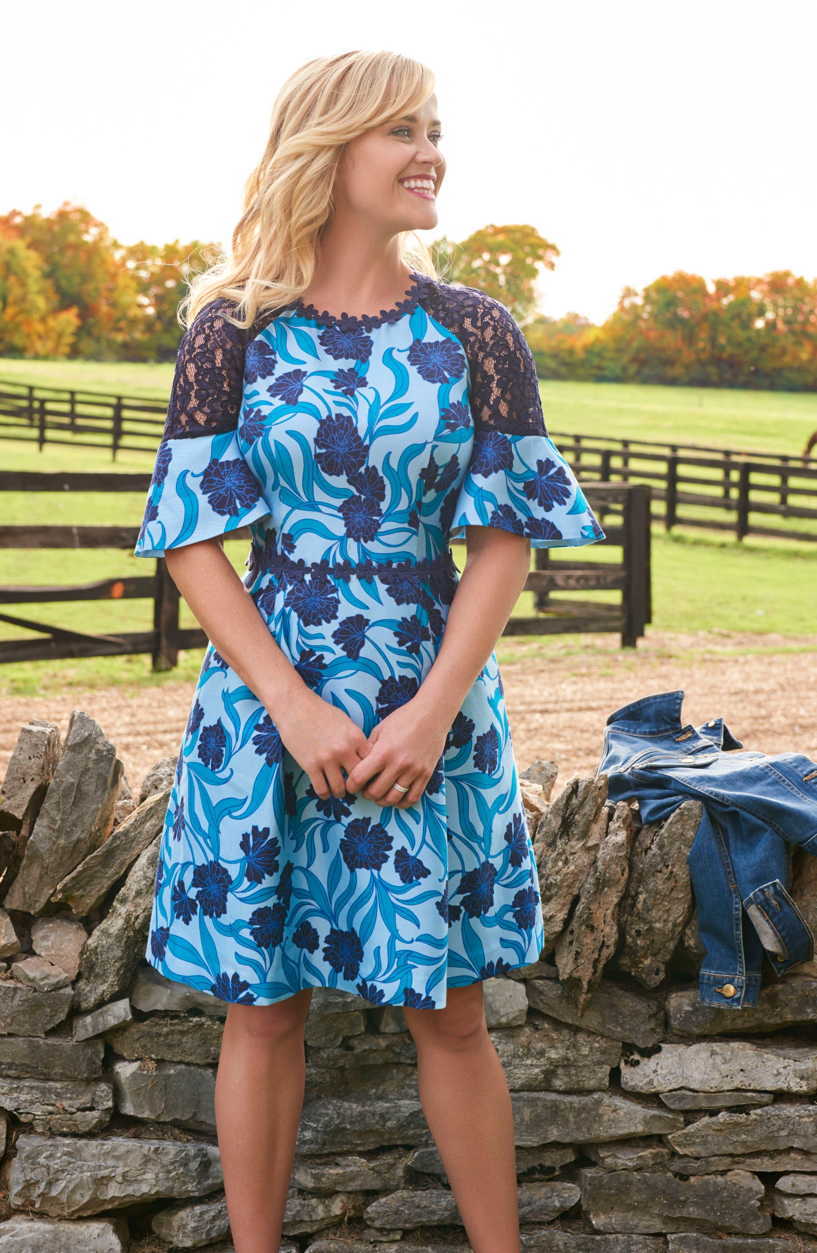 Maggie Buttercup Bloom Dress,                             Alternate thumbnail 7, color,                             404