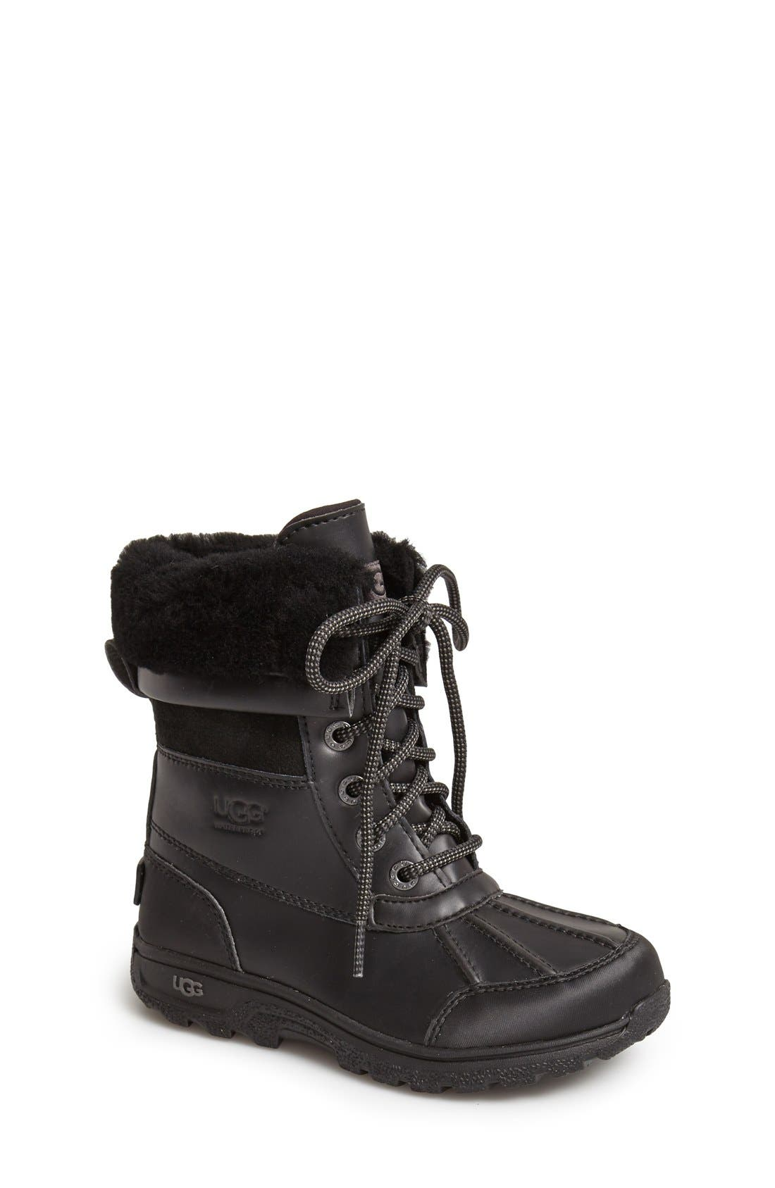 'Butte II' Waterproof Leather Boot,                             Main thumbnail 3, color,