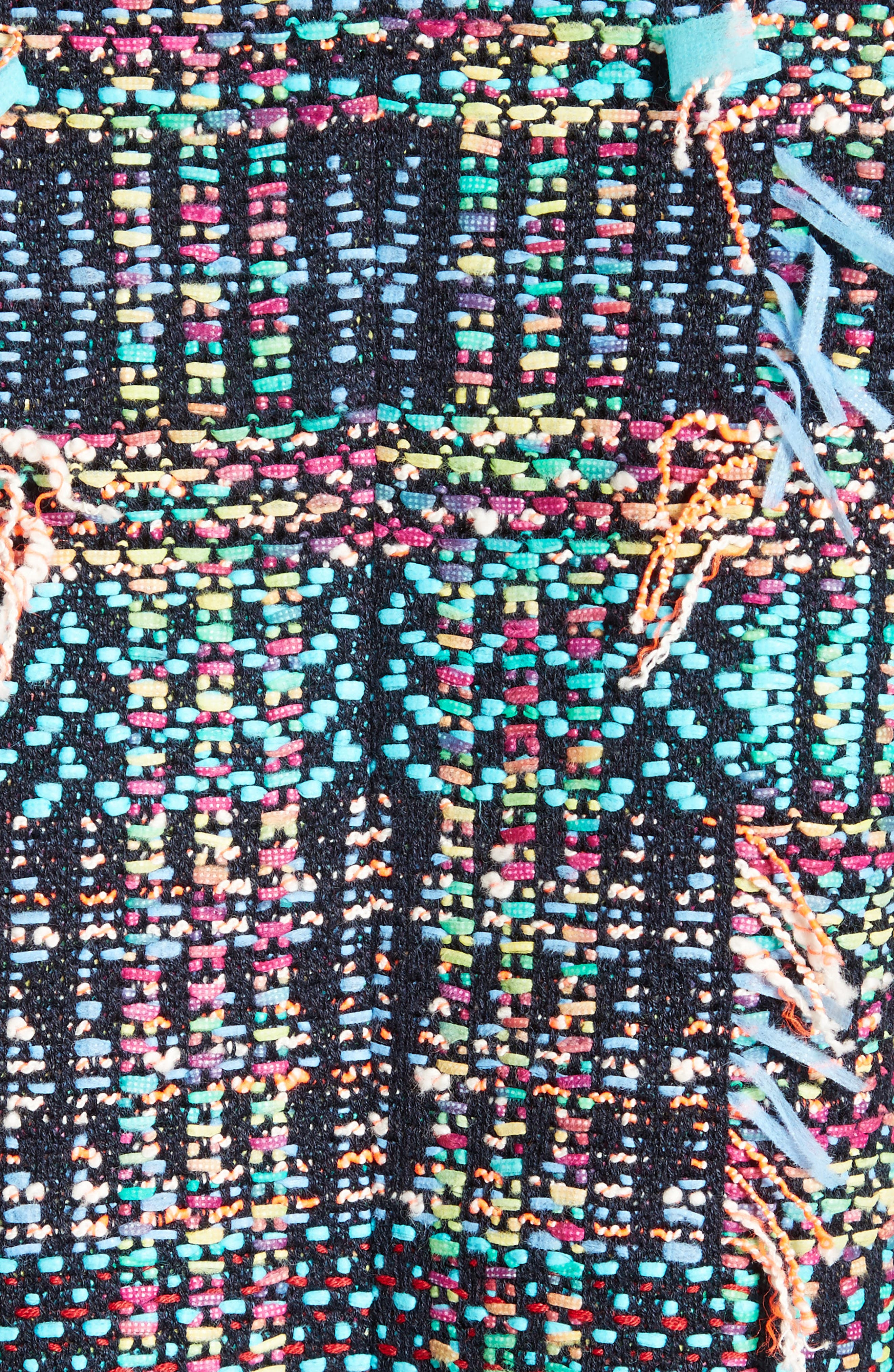 Dara Fringe Knit Jacket,                             Alternate thumbnail 7, color,