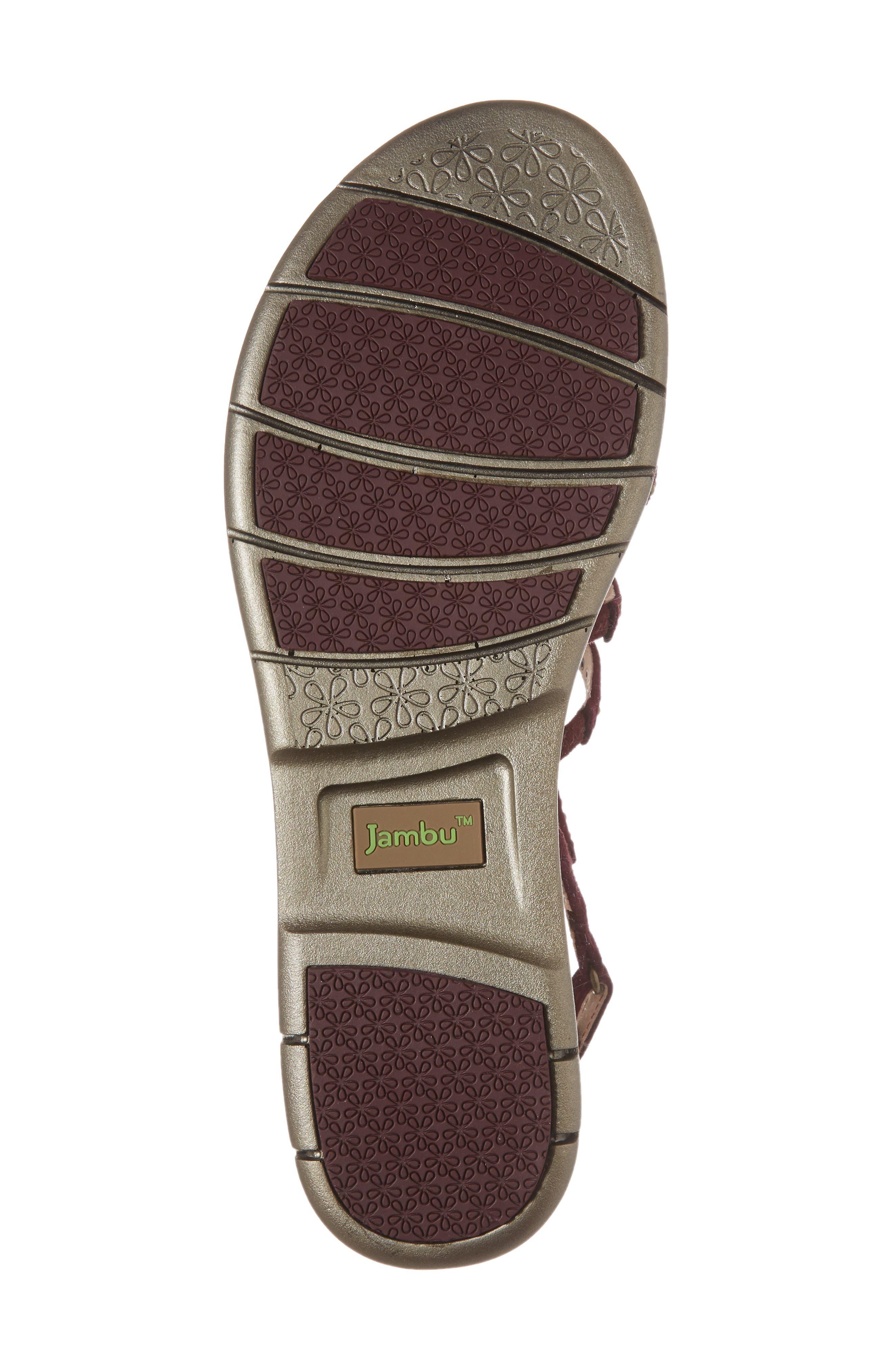 Elegance Studded Strappy Sandal,                             Alternate thumbnail 6, color,                             WINE SUEDE